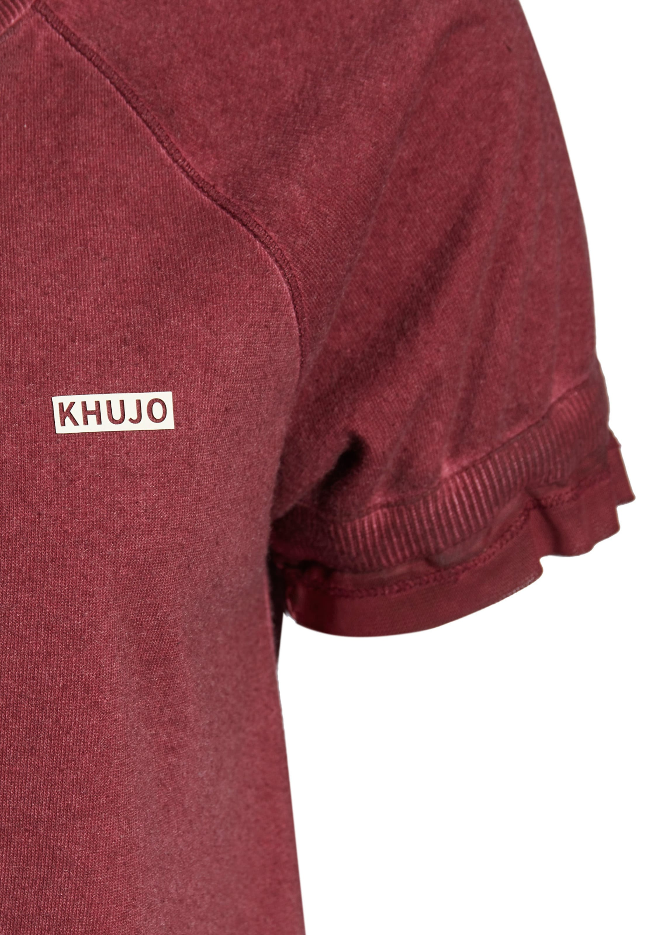 Sweatshirt 'fredrika' Khujo In Rot 6gyYbf7