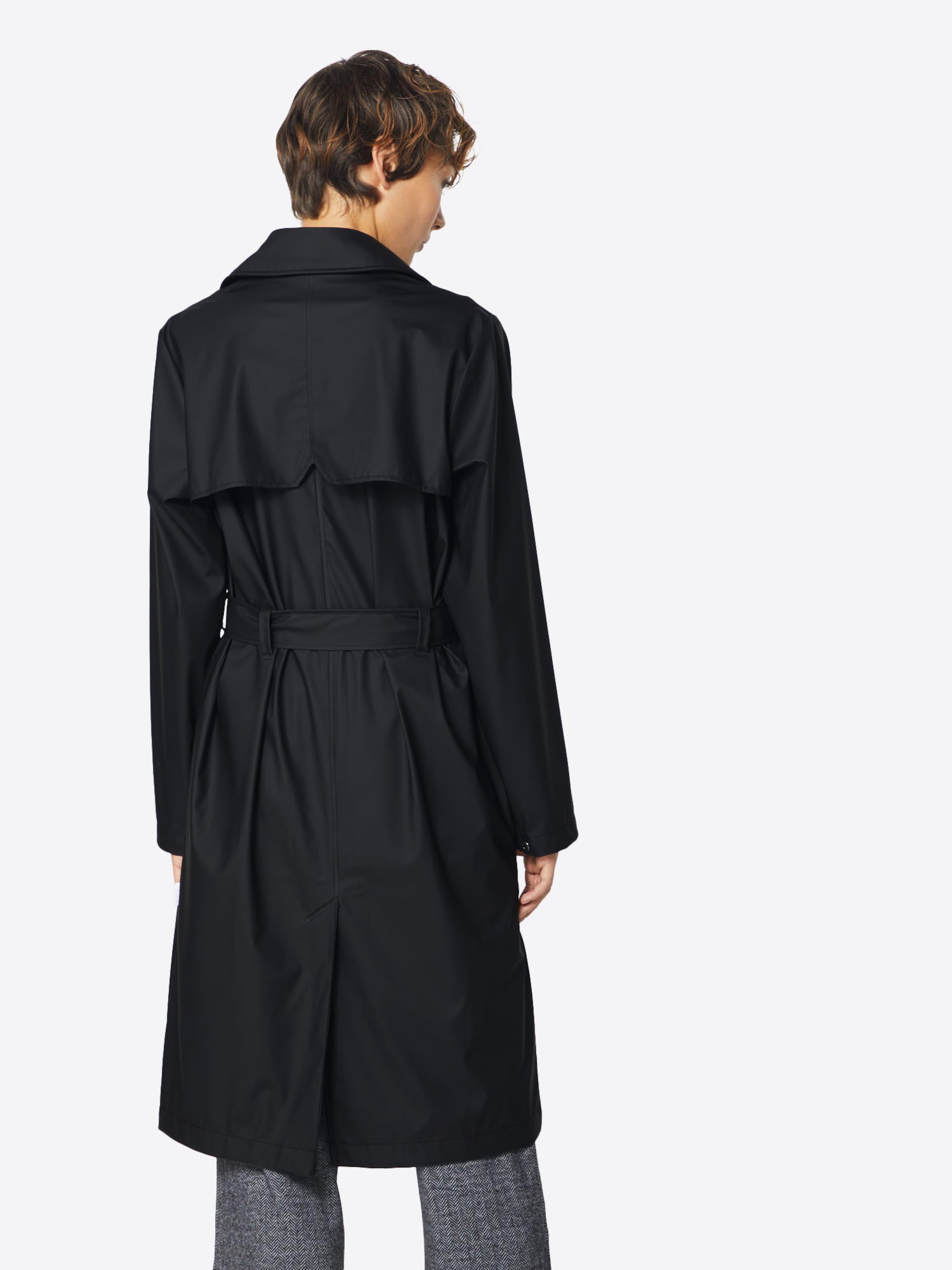 Mi En saison Noir Rains Manteau wPk0On
