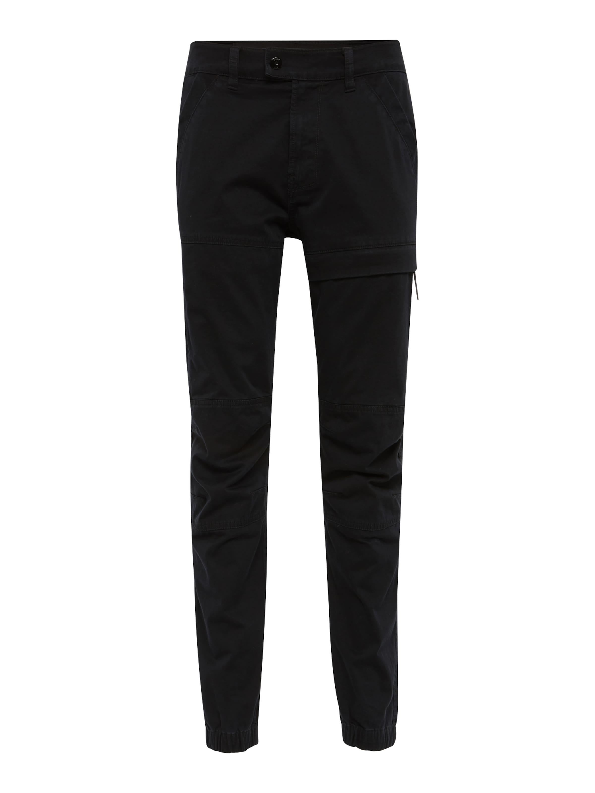 Cuffed' G Raw Pantalon Straight En Cargo Noir star 'rackam Tapered e9HDWbE2IY