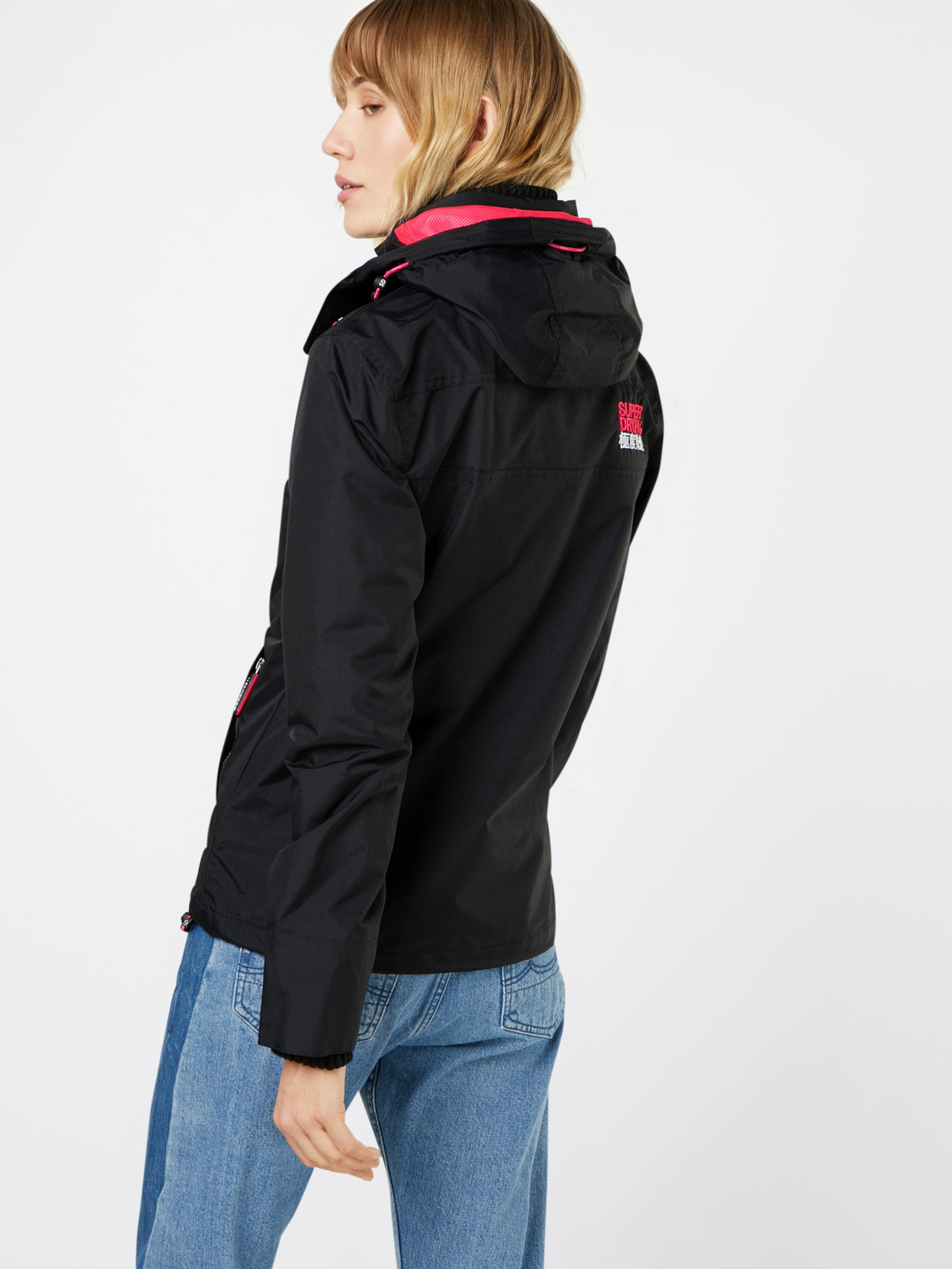 Noir Fonctionnelle 'tech Superdry Windcheater' Pop Veste Zip Hood En byvIYf7g6