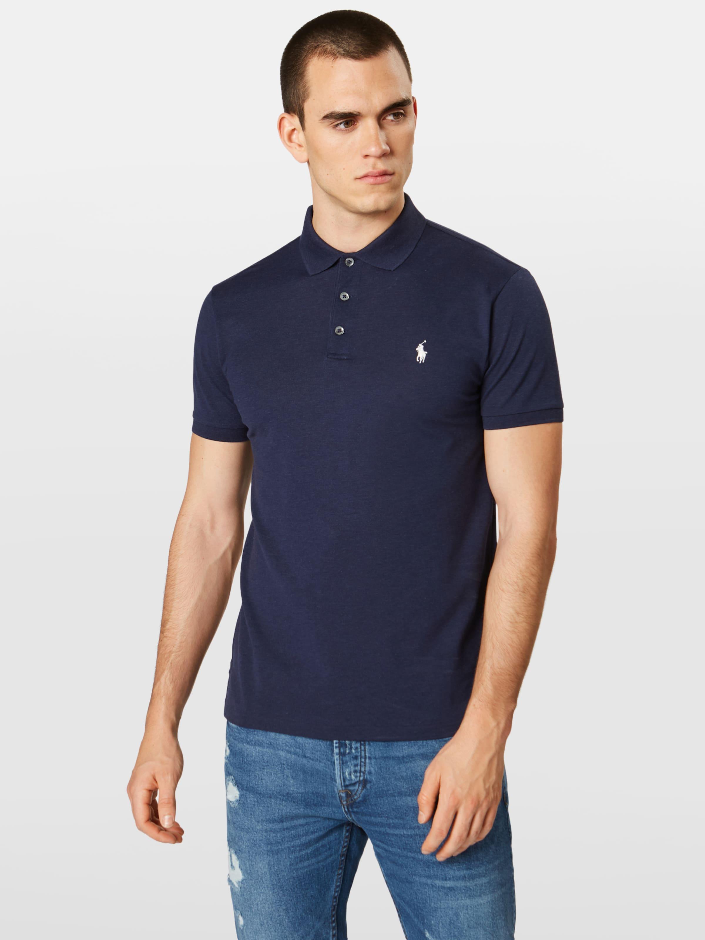 Sleeve Lauren T shirt Ralph short Marine Bleu knit' 'sskcslm1 Polo En ZuXOPki