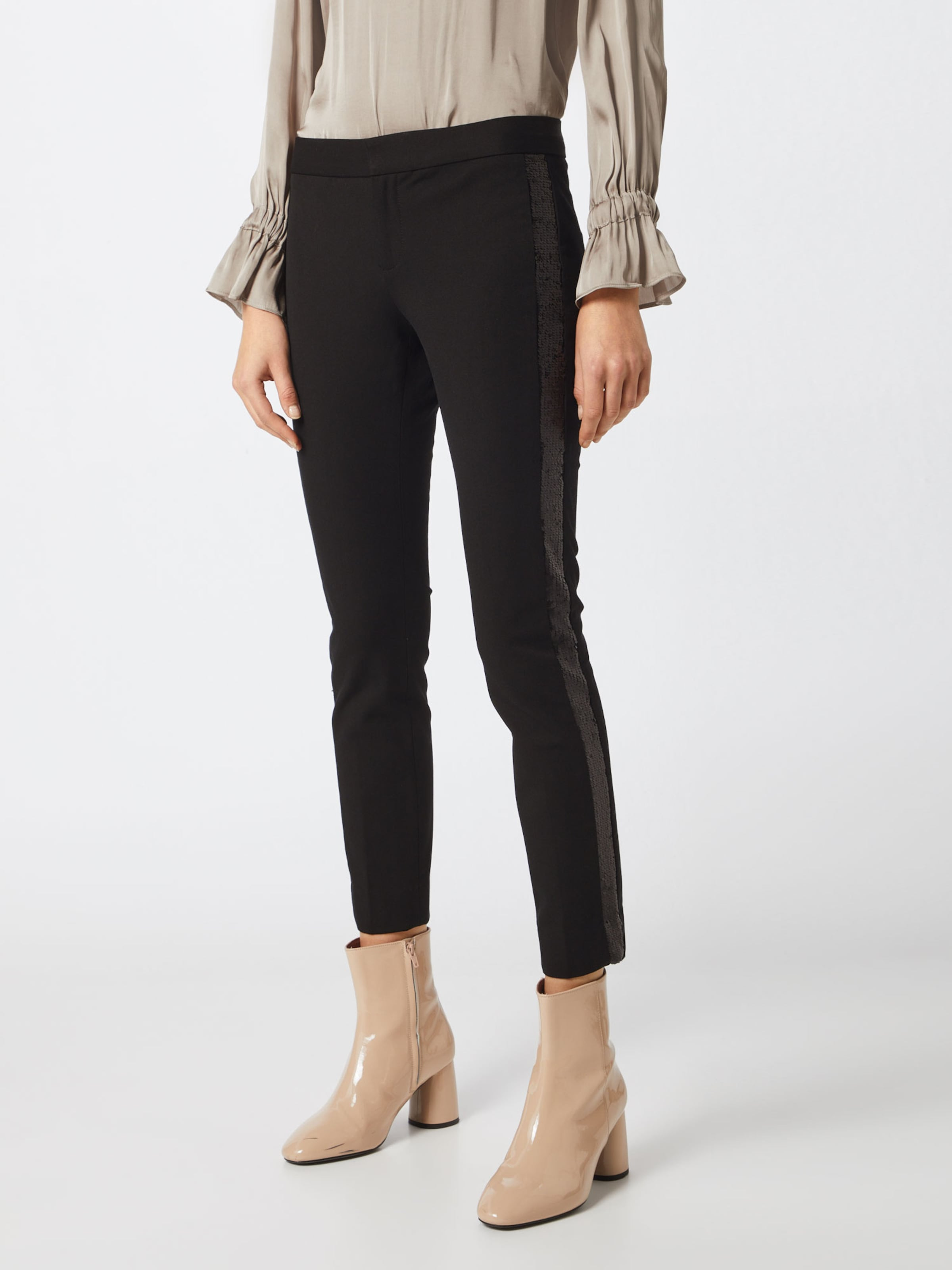 Banana En Stripe' Noir Republic 'sloan Pantalon Tux Sequence qzMpVSU