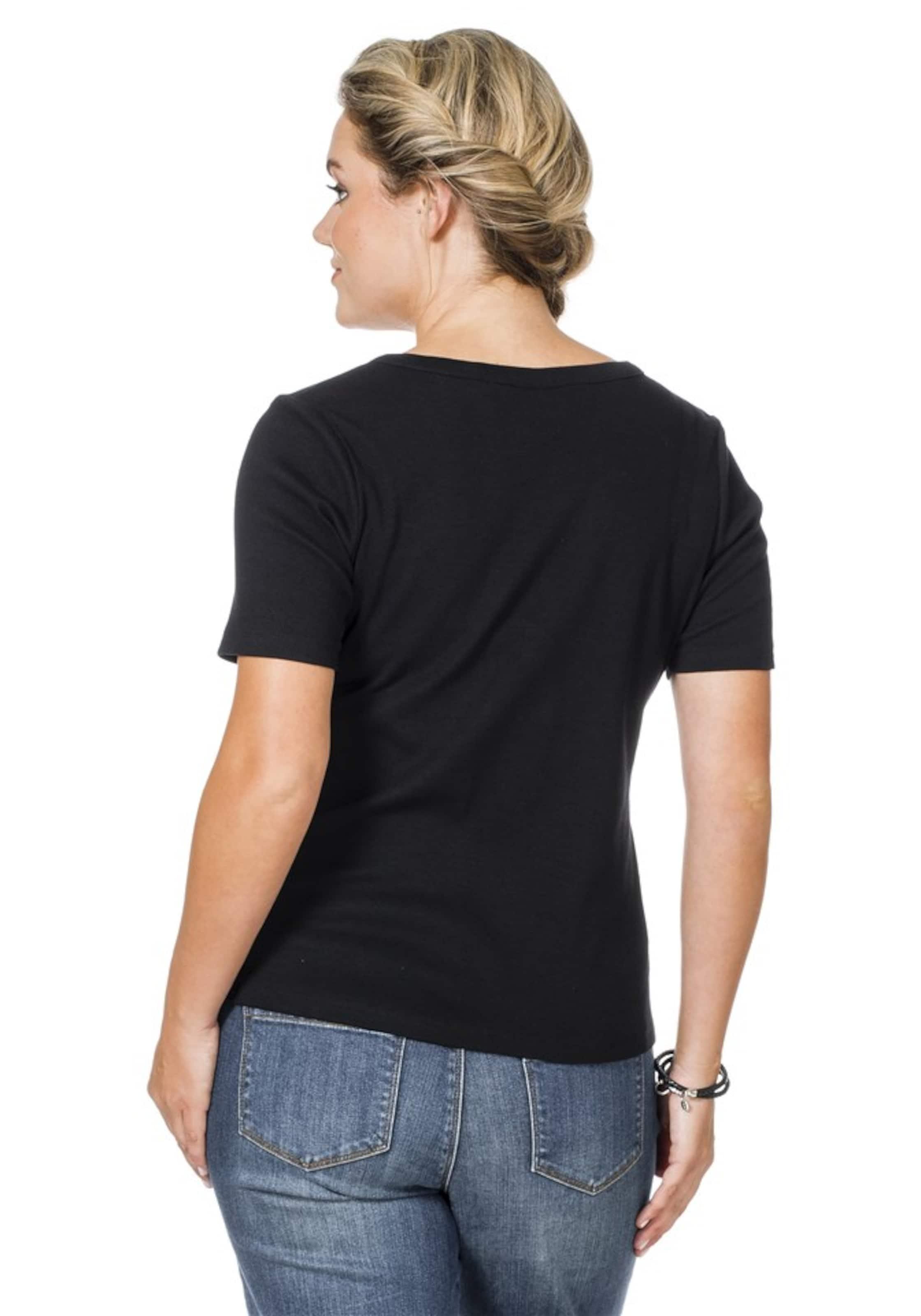 In Zauberhafte Shirtjacke Sheego Schwarz Casual R3qcjL54A