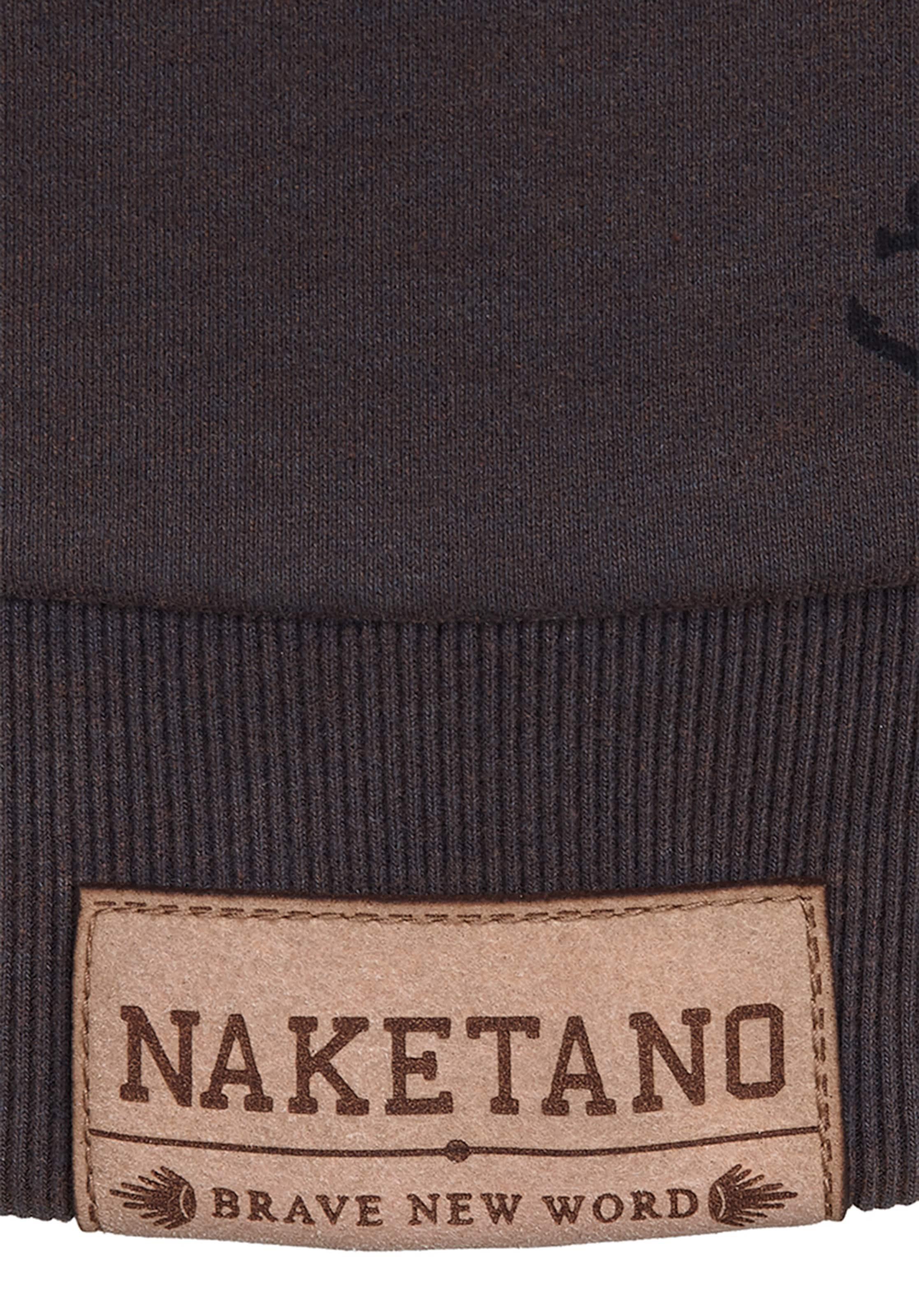 Enemy' Naketano Of 'rise Sweat RougeNoir shirt An En IH2WED9