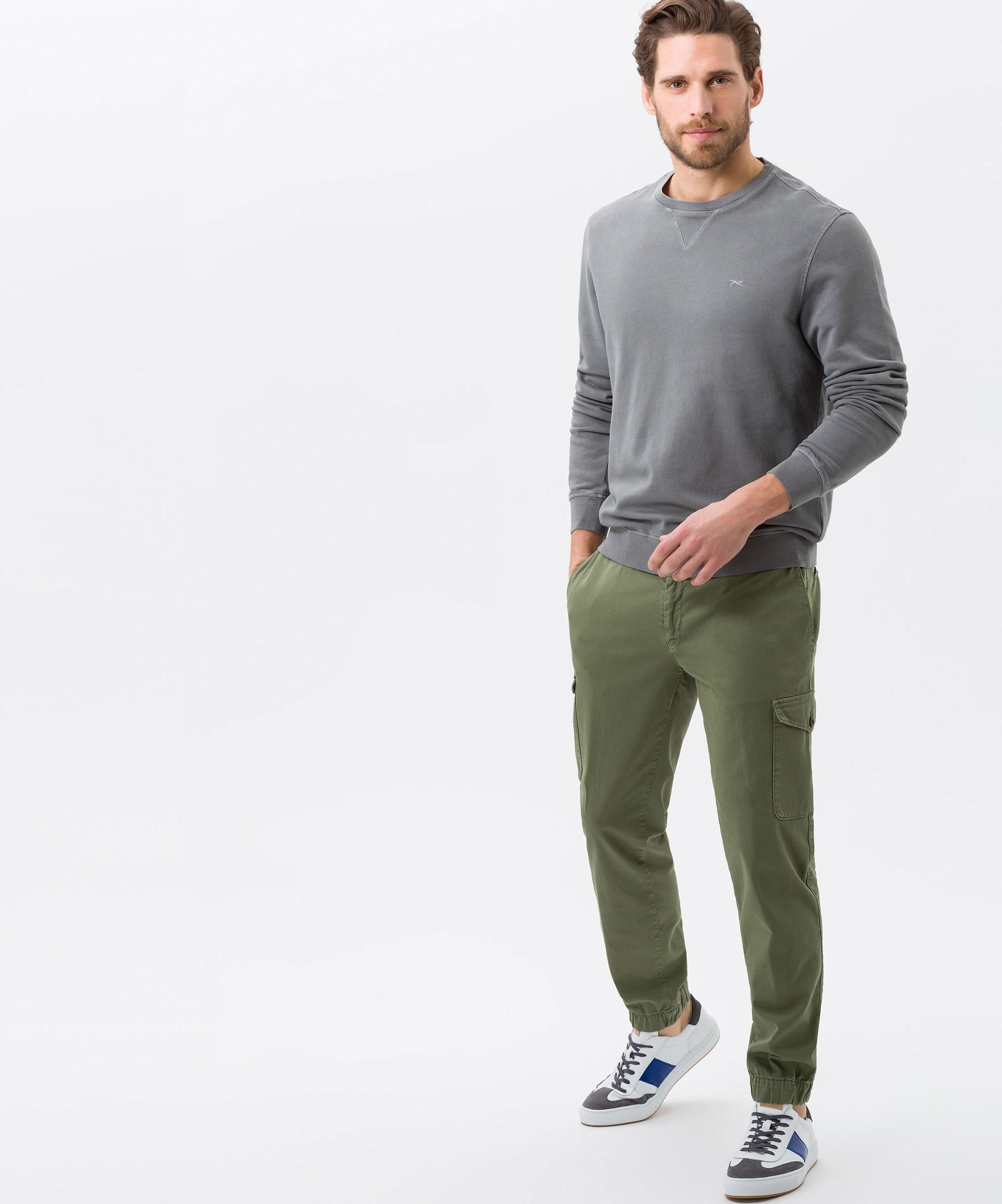 In Grau Brax Sweatshirt 'sawyer' Fuc3l1KT5J