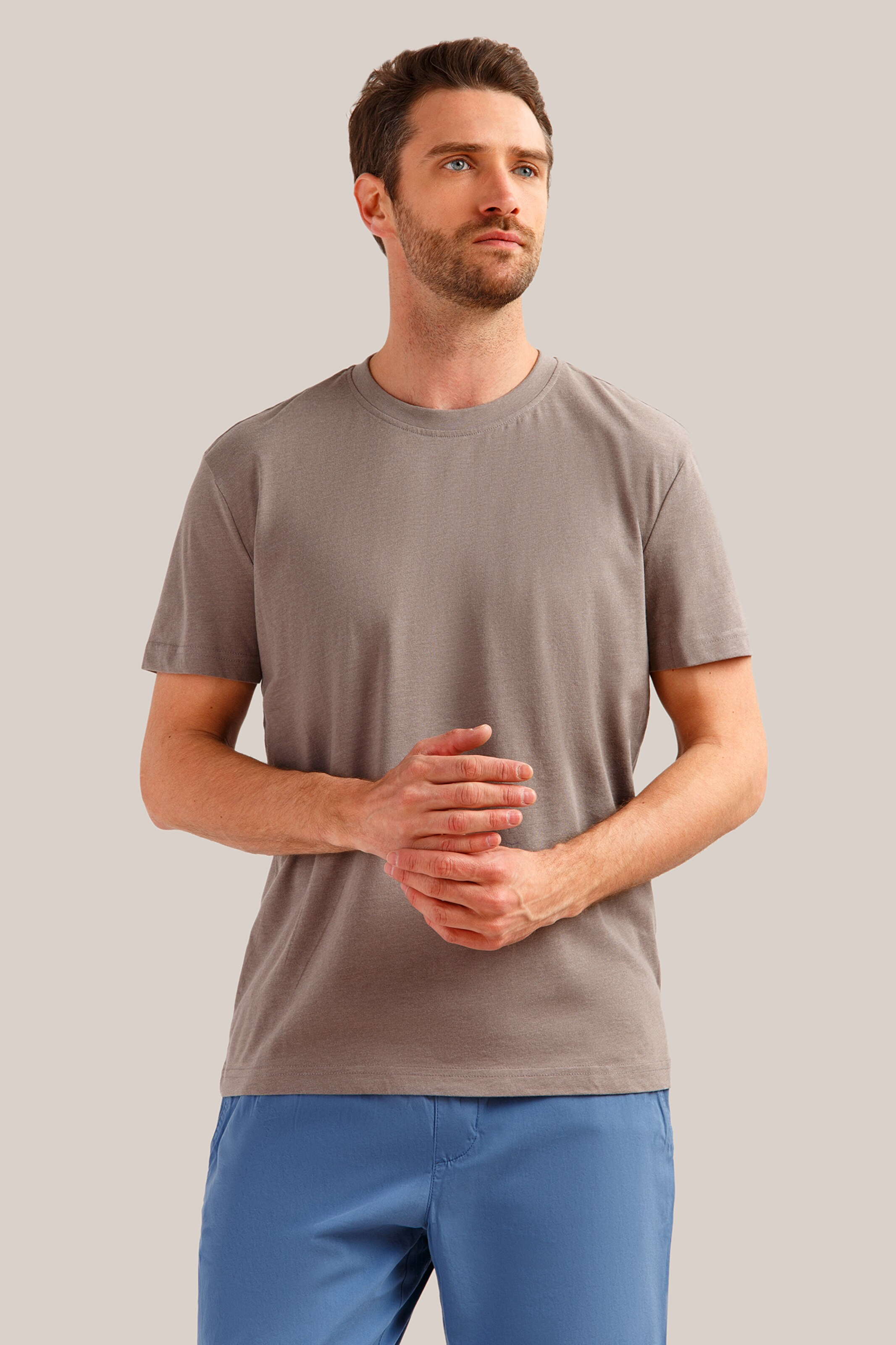Finn shirt In Design Klassischem Braun Basic Flare 0Xk8OwnP