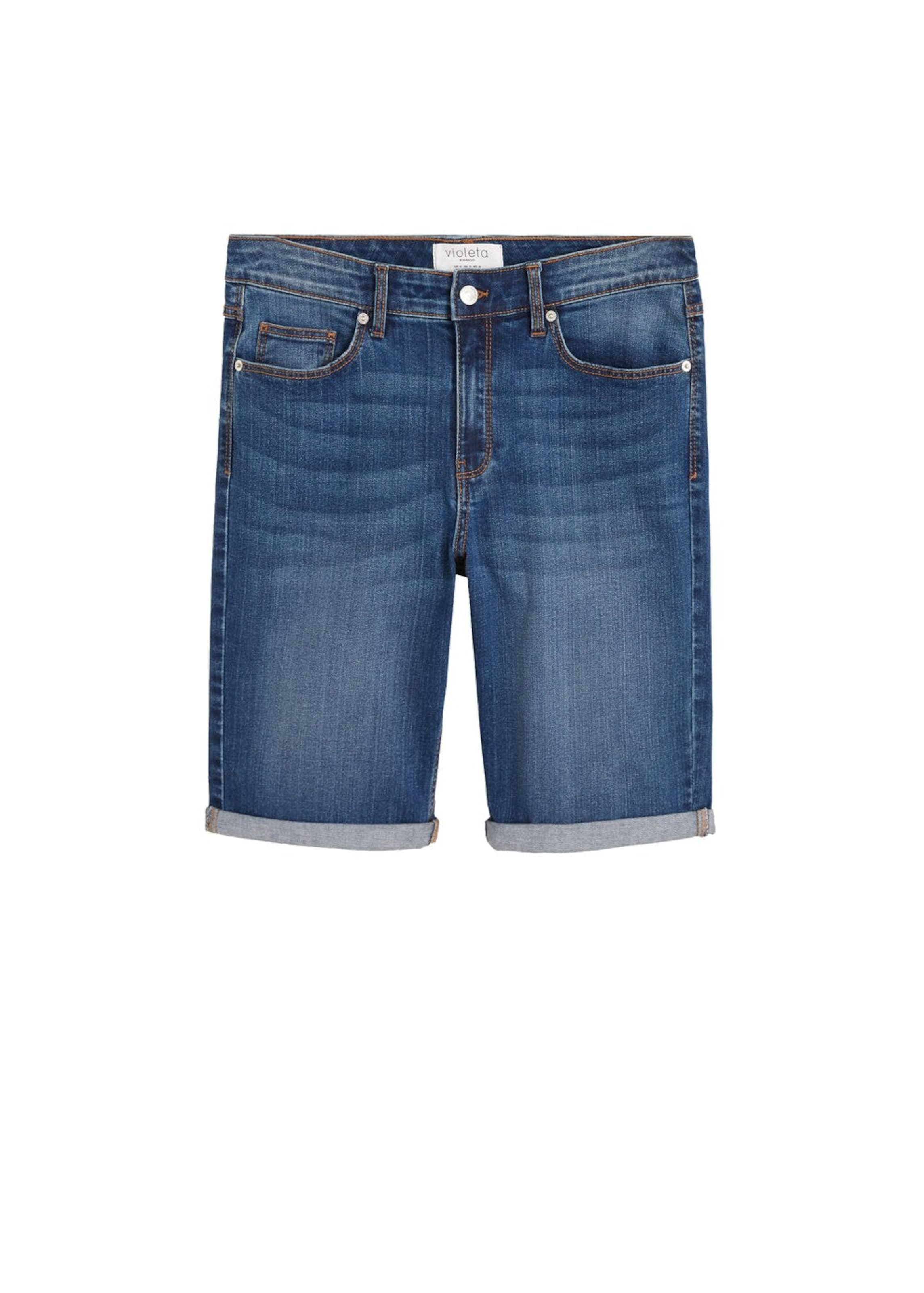 Mango In Bermudas Blue By 'soda' Violeta Denim ynONPv0w8m