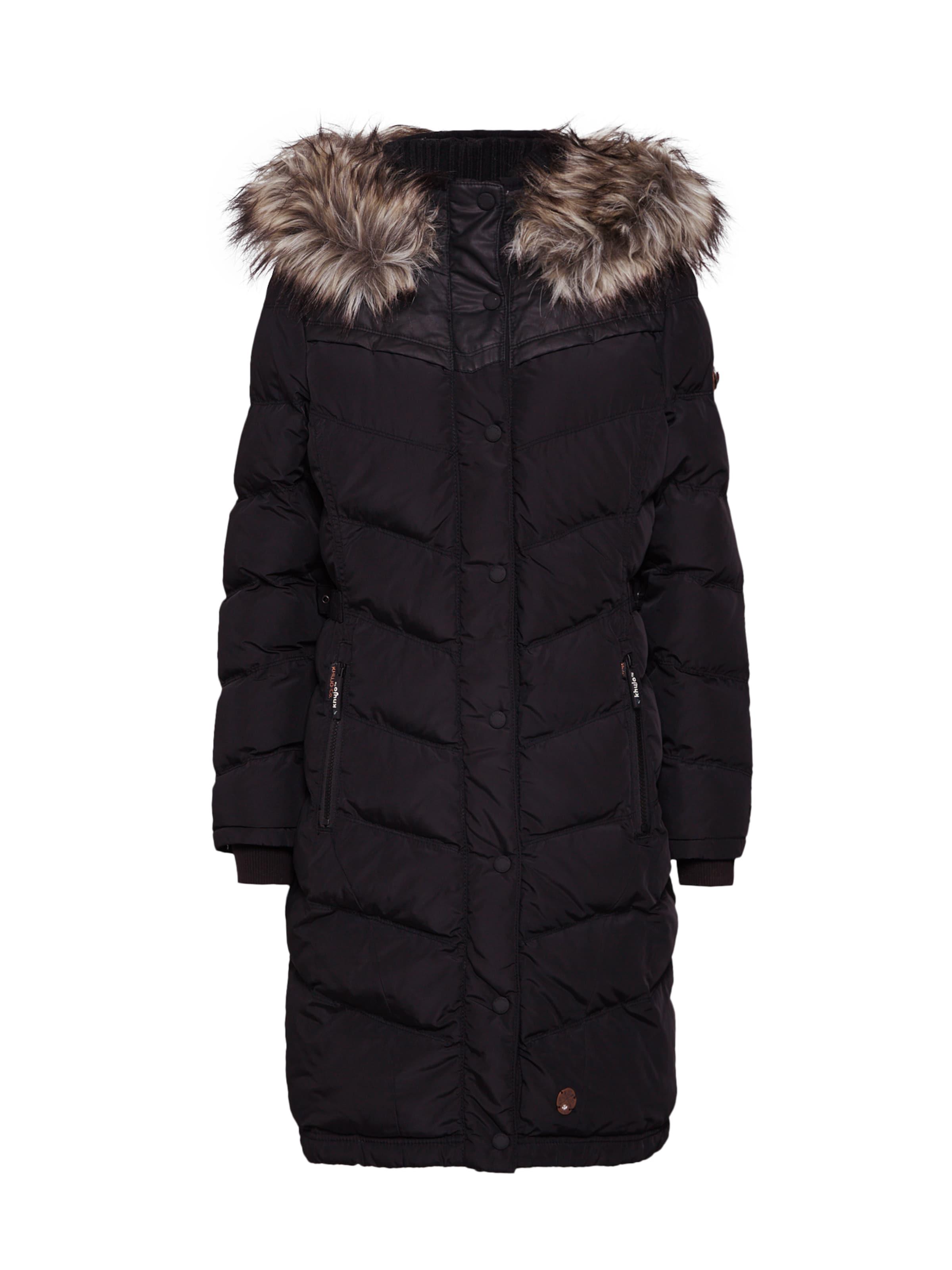 Manteau Noir D'hiver 'lubeck' Khujo En 7If6ybgYv