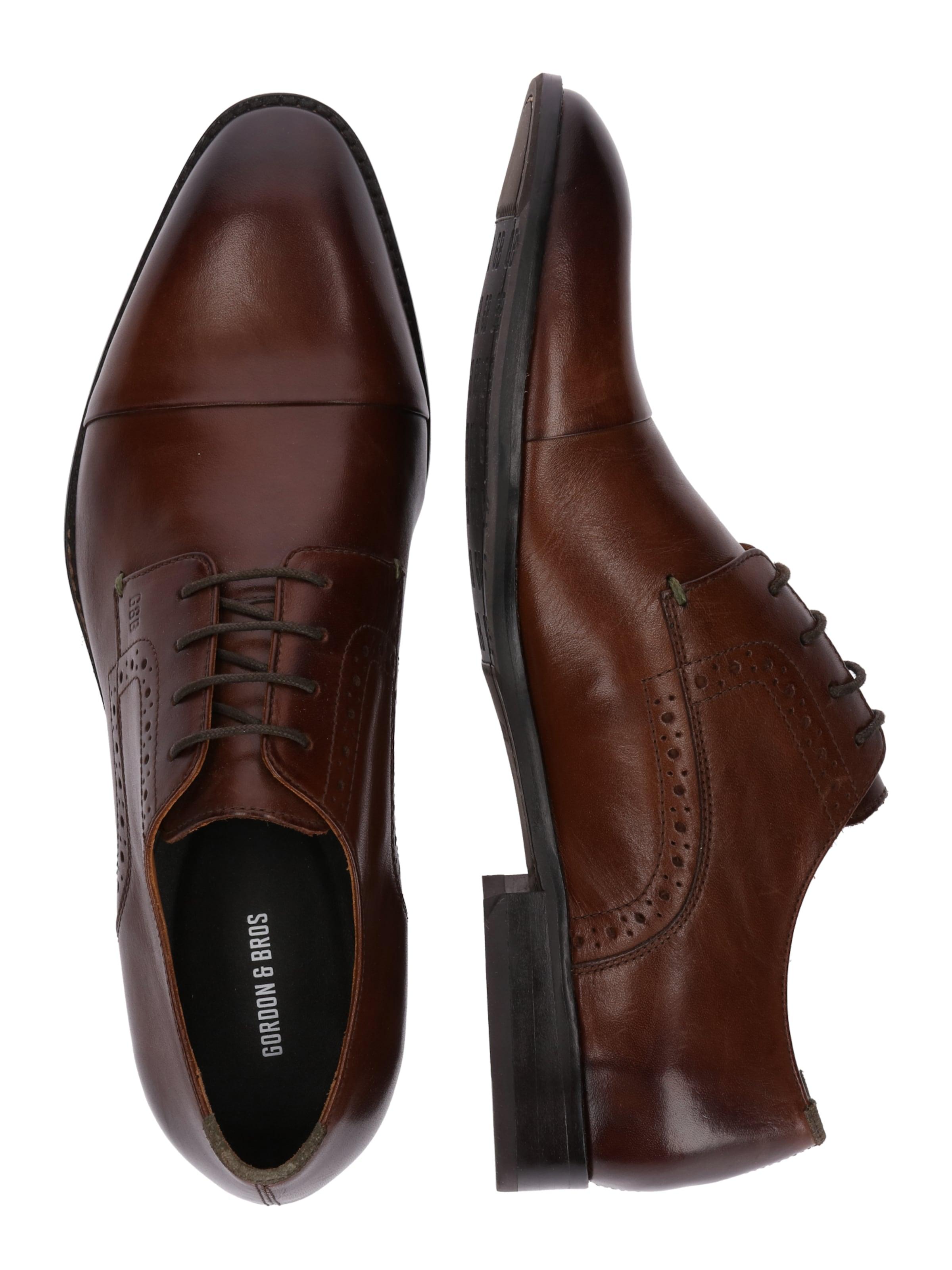 Chaussure Lacets 'mirco' Bros Gordonamp; En À Foncé Brun PO0w8nXk