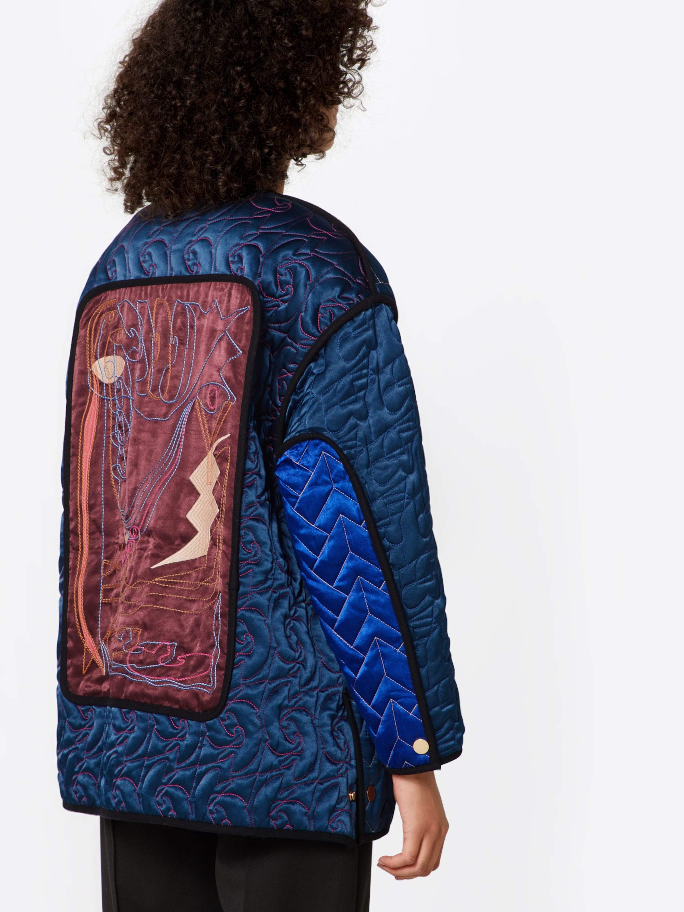 En Postyr Veste BleuRouge saison 'poslotus Jacket' Mi Quilt 76yYbfg