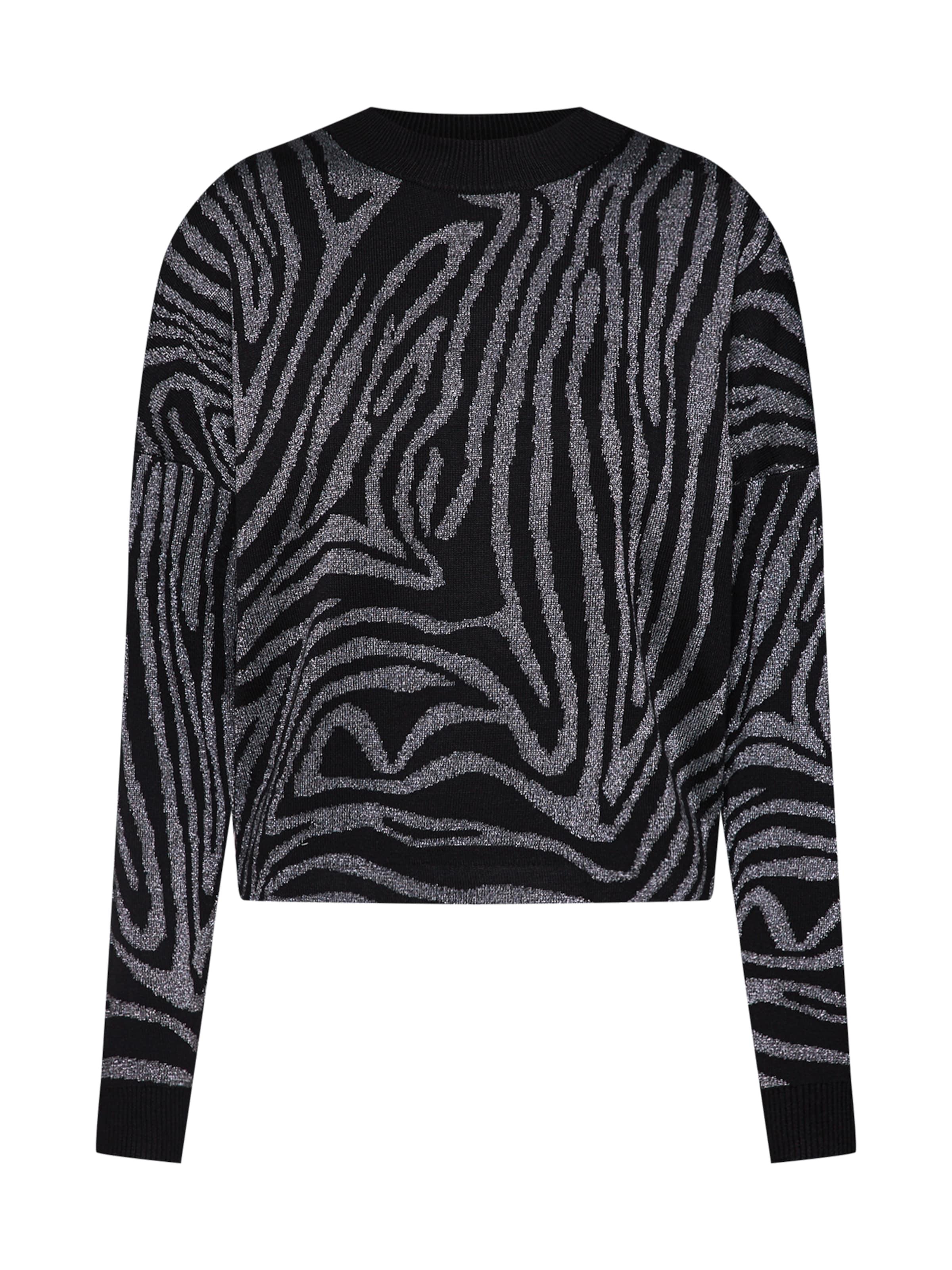 Mint Pull Jumper' Print En 'zebra Lurex NoirArgent over amp;berry bYf7yvg6