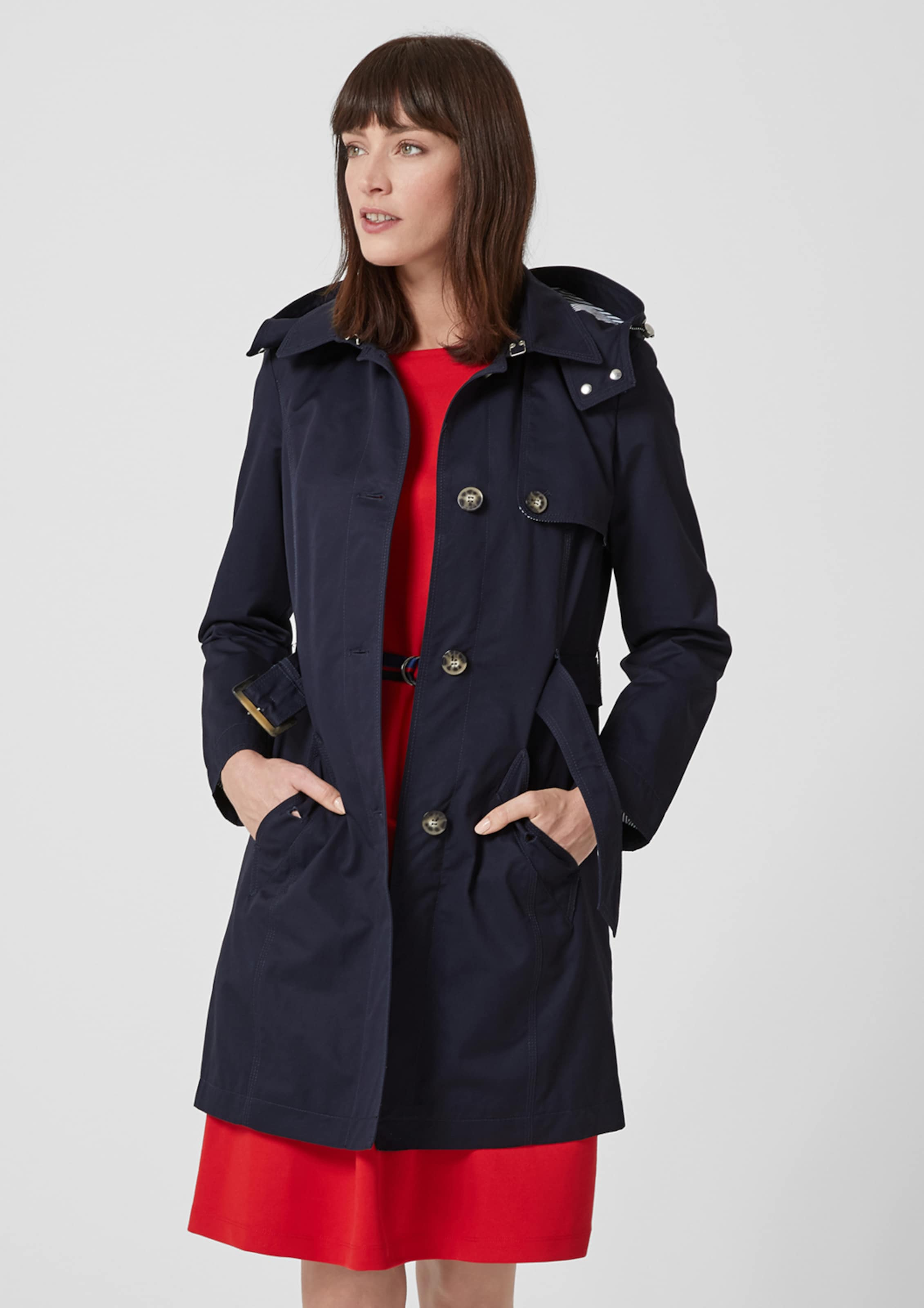 In Label S Nachtblau Red oliver Trenchcoat k8wn0POX