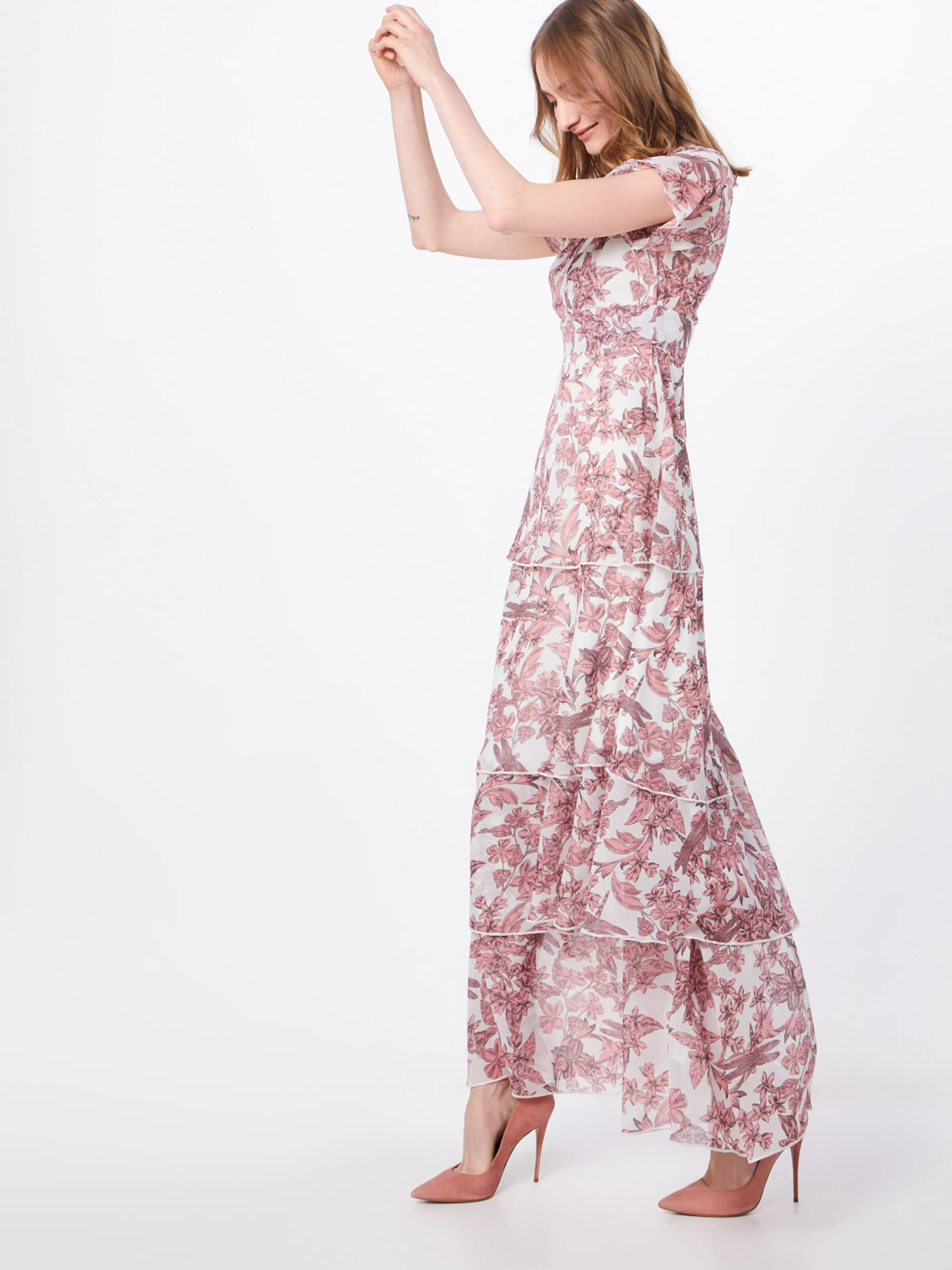 Robe De Missguided 'floral En RoséBlanc Layered' Frill Soirée oedxCB