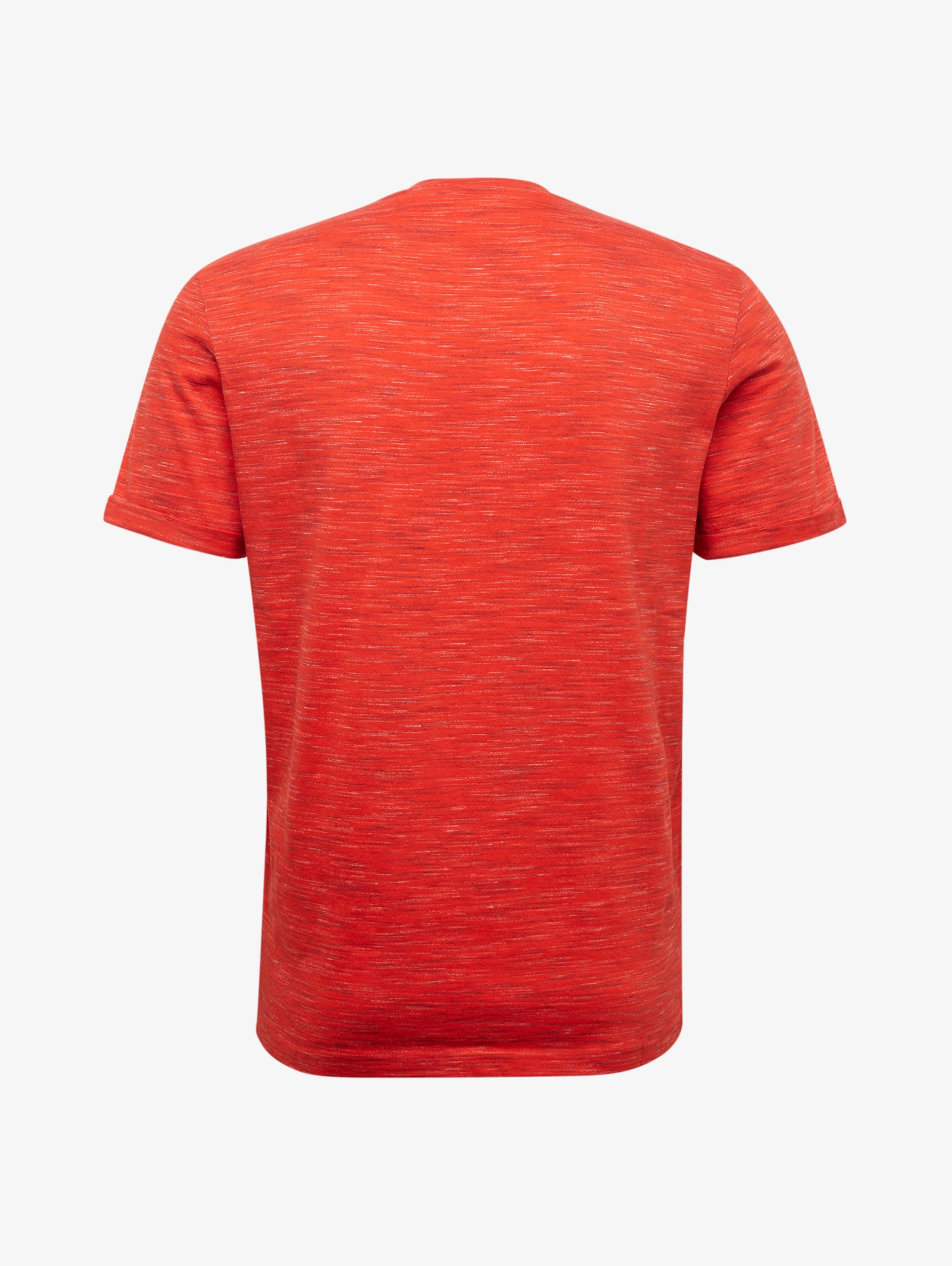 Rotmeliert shirt In T Tailor Tom vNmw80n
