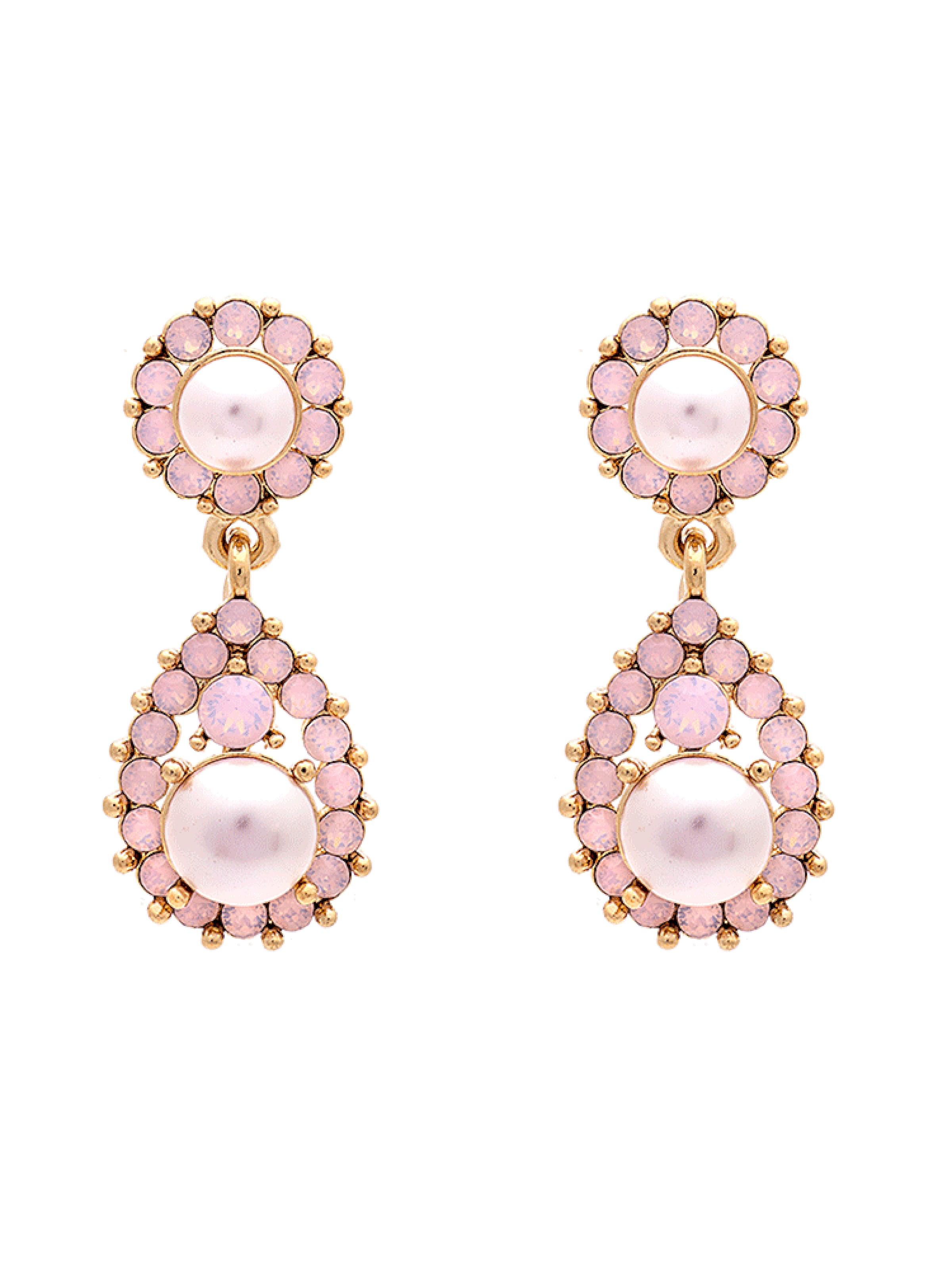 Lily And CrèmeArgent D'oreilles Boucles En 'sofia Rose Pearl' trsQdh