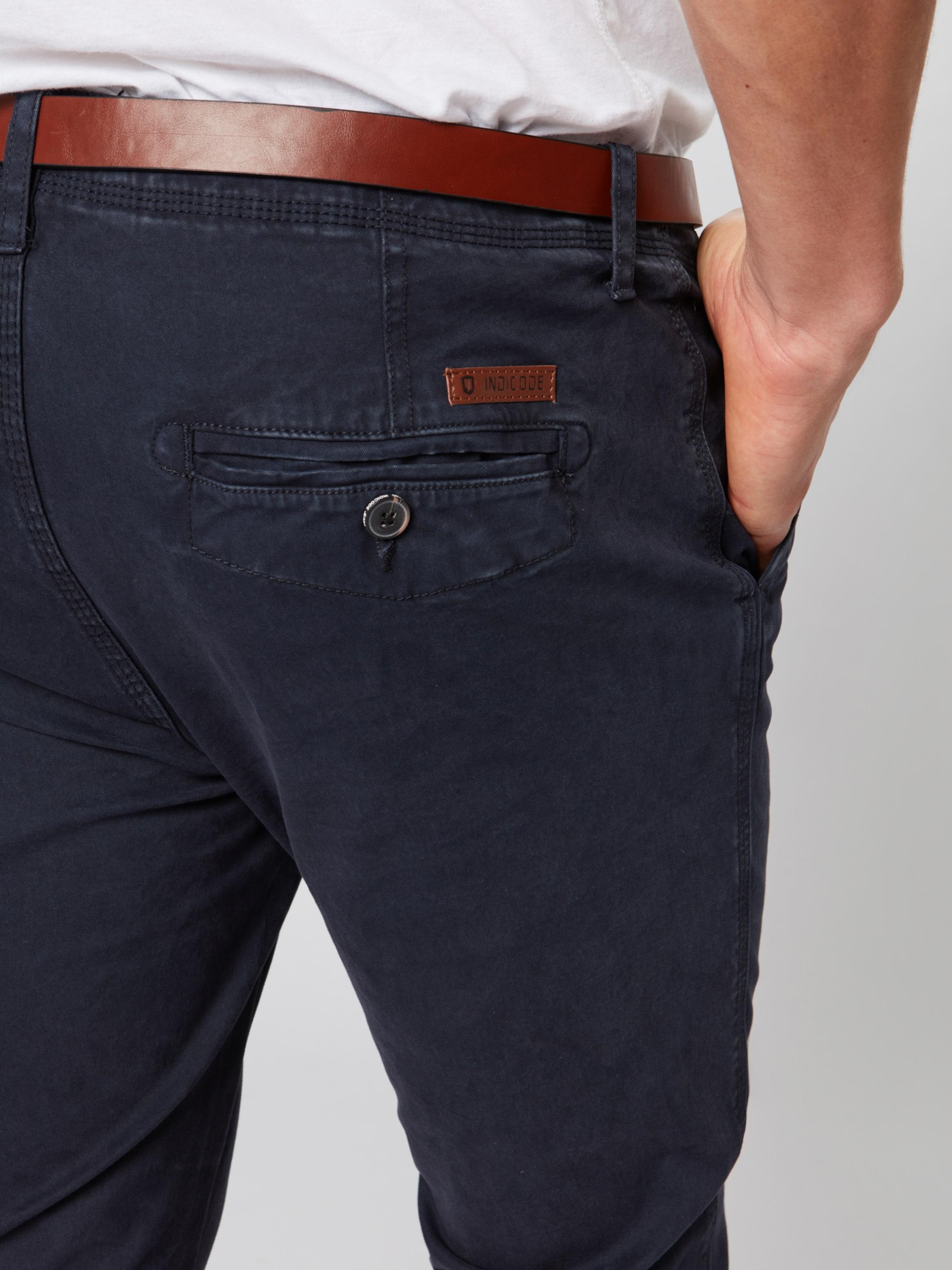 Jeans Chino Foncé 'nelson' En Pantalon Gris Indicode NOv80wnm