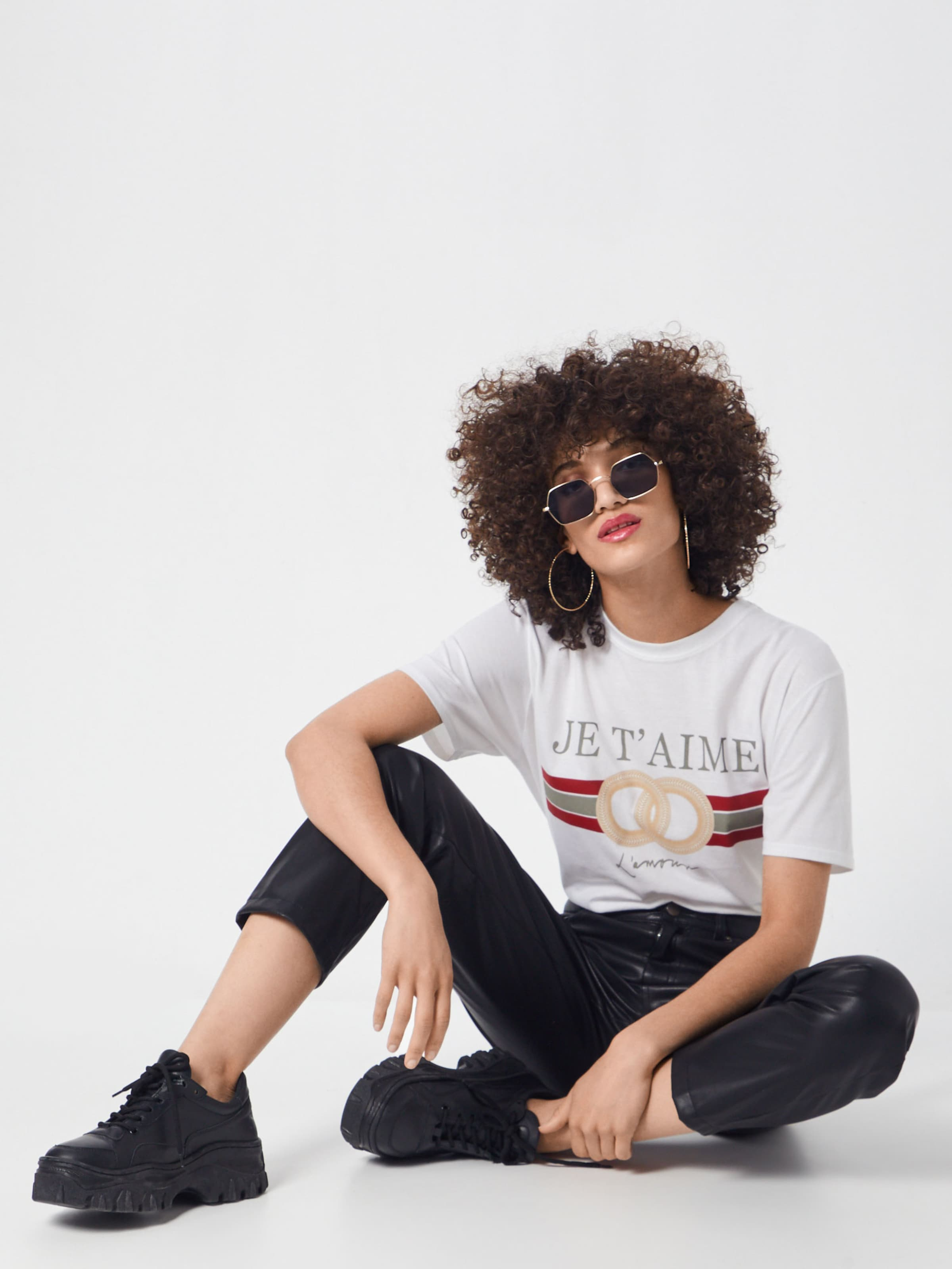 'je Tshirt' In Missguided T Weiß Shirt Aime Graphic Oversized DH29IWEY