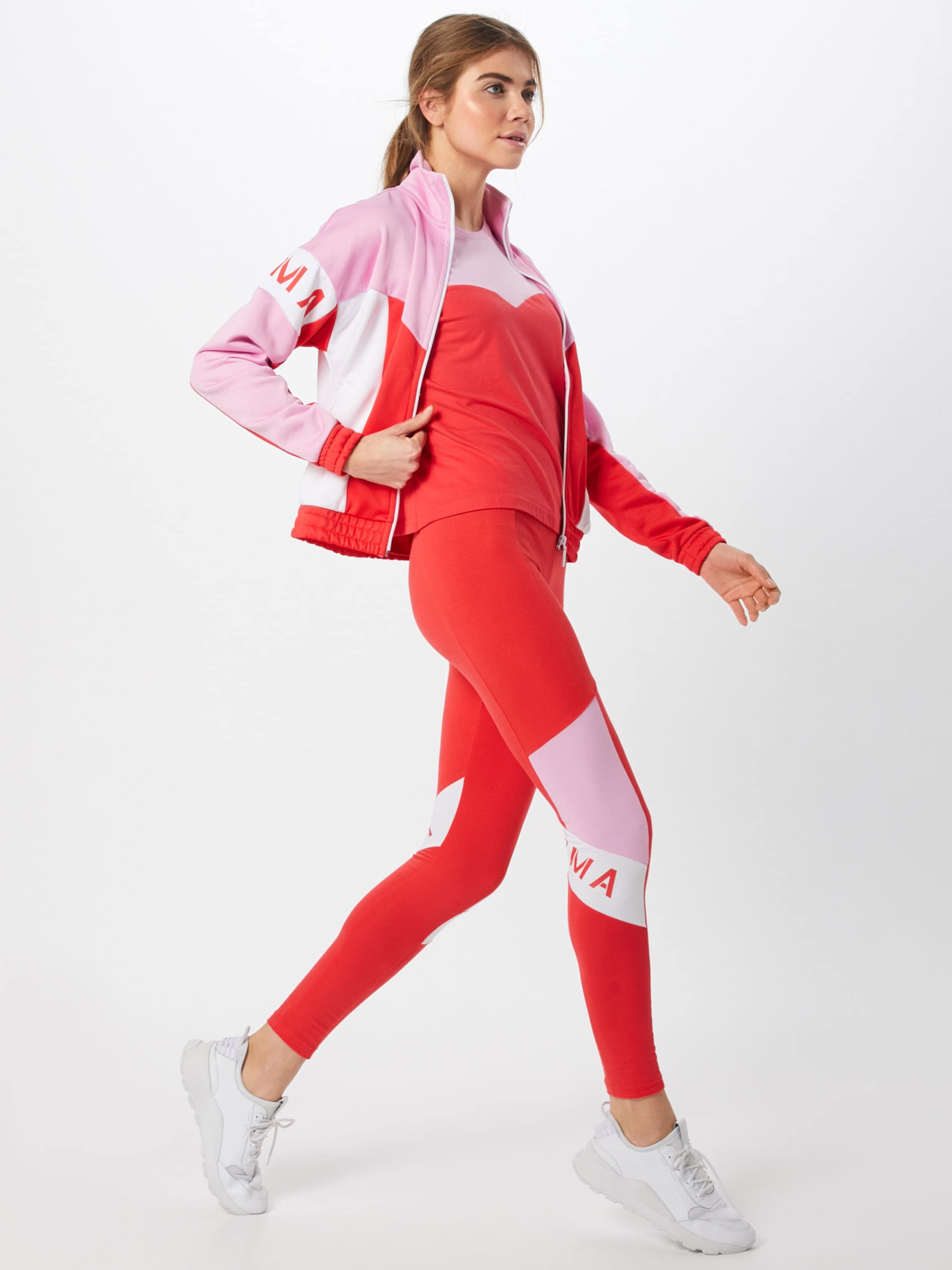 Puma Roserouge Colorblock' Shirt T Y6f7byg En Blanc 'xtg GSzpLjqUVM