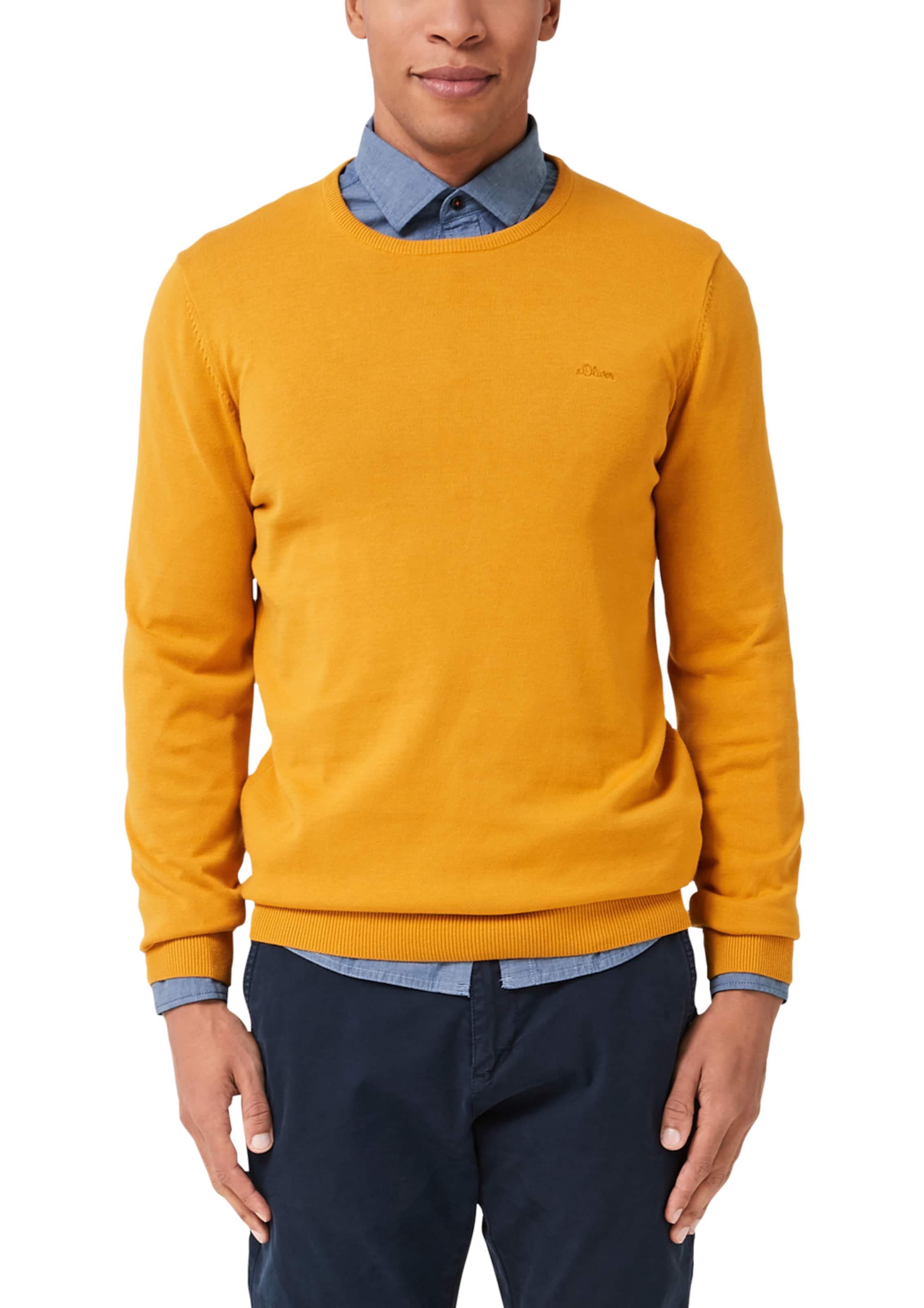 S Red Gelb In Mit Neck Label Pullover oliver Crew tQdshrC