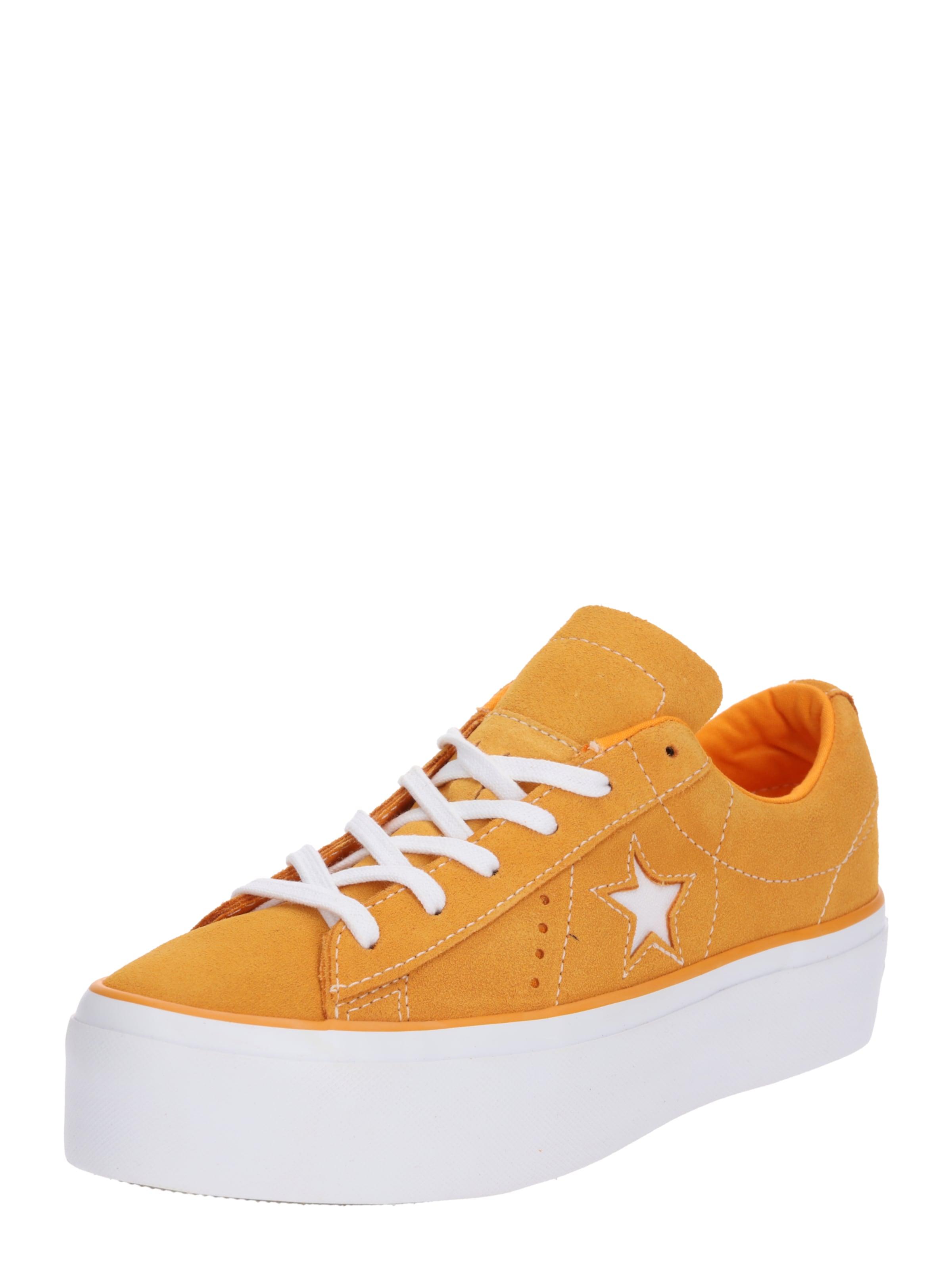 Converse Baskets PlatformOx' 'one En Star OrangeBlanc Basses WbD9HeEYI2