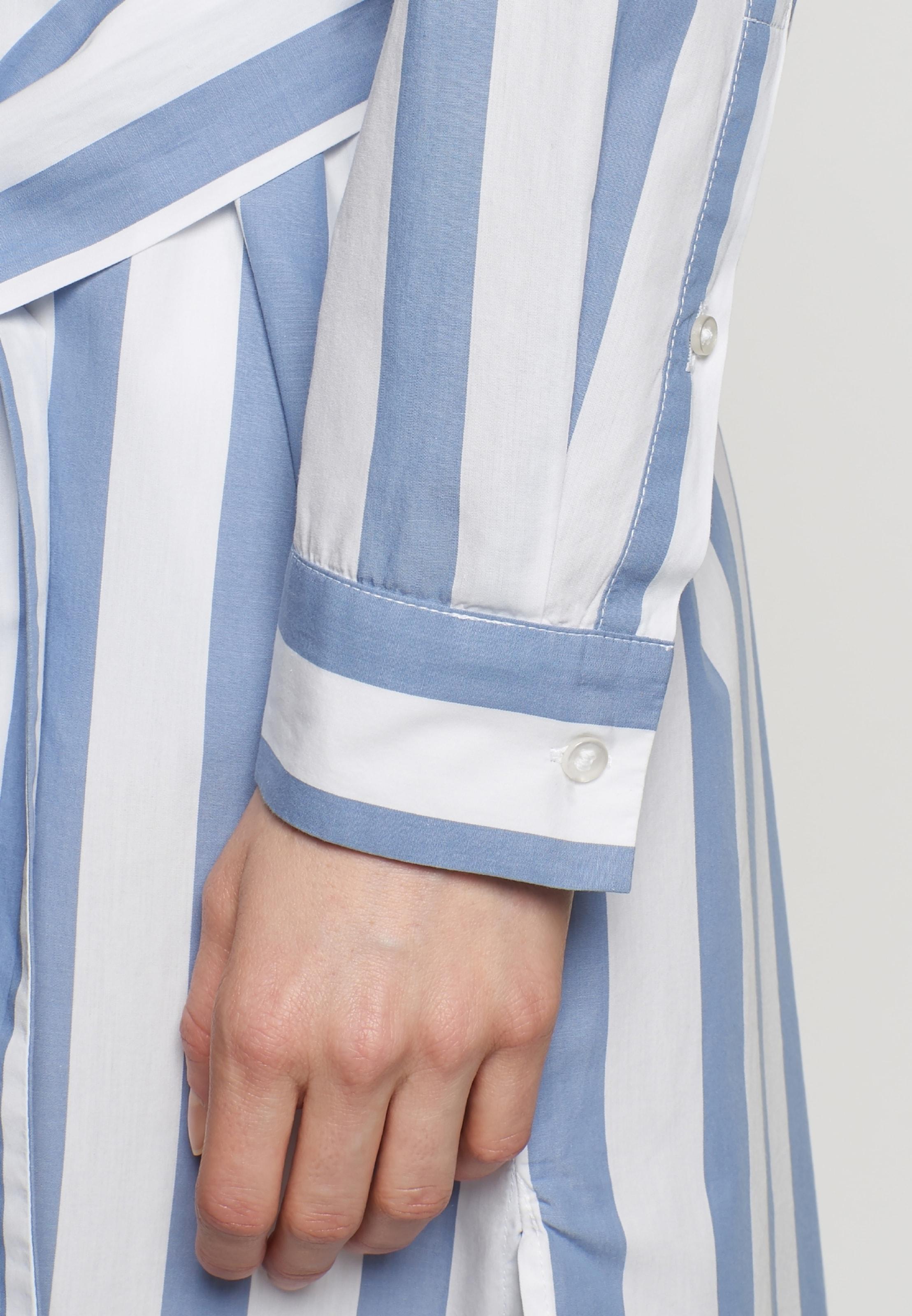 chemise BleuBlanc Seidensticker 'schwarze Rose' En Robe 2DI9EH