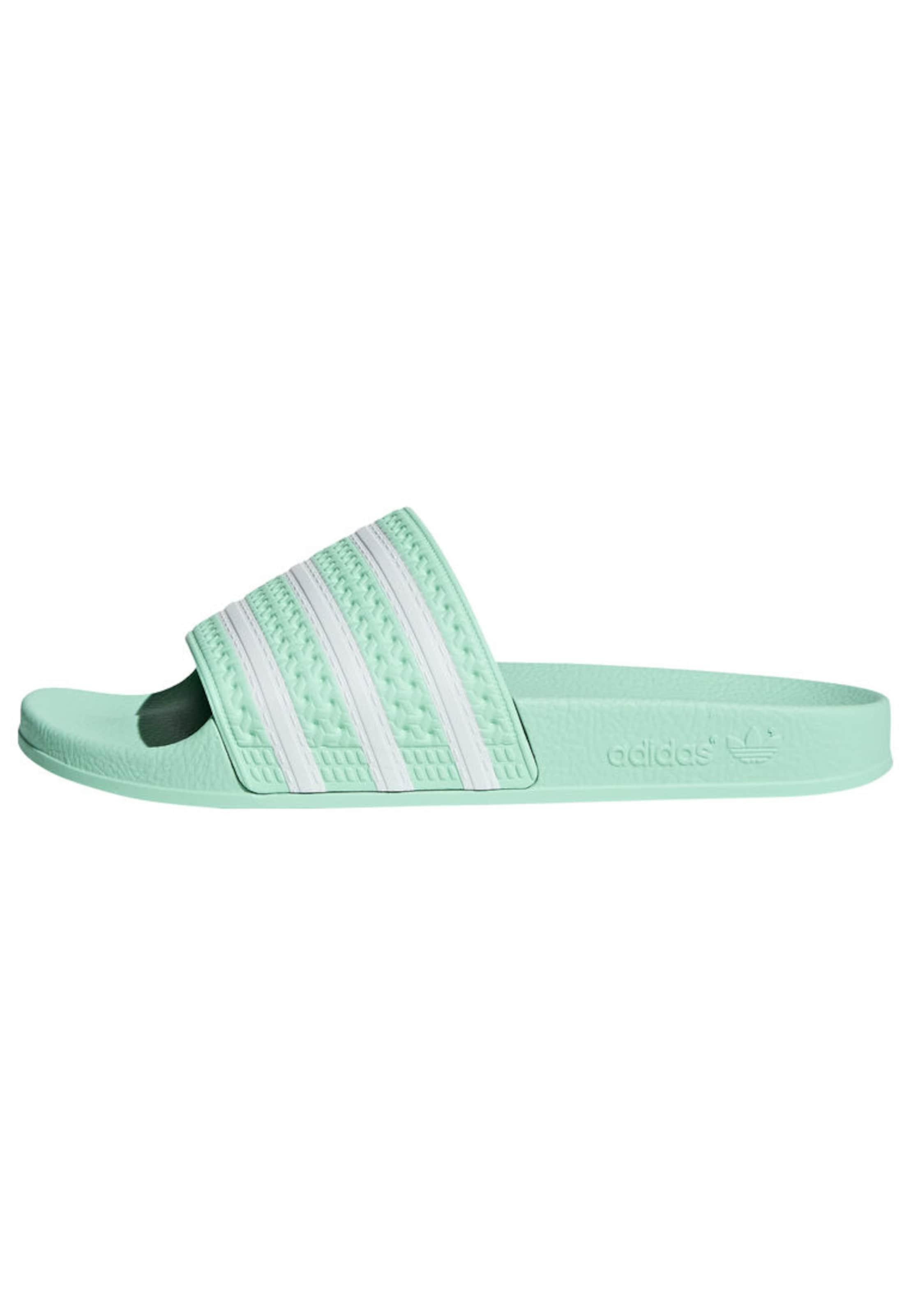 In MintgroenWit 'adilette' Originals Muiltjes Adidas Yb76vImfgy