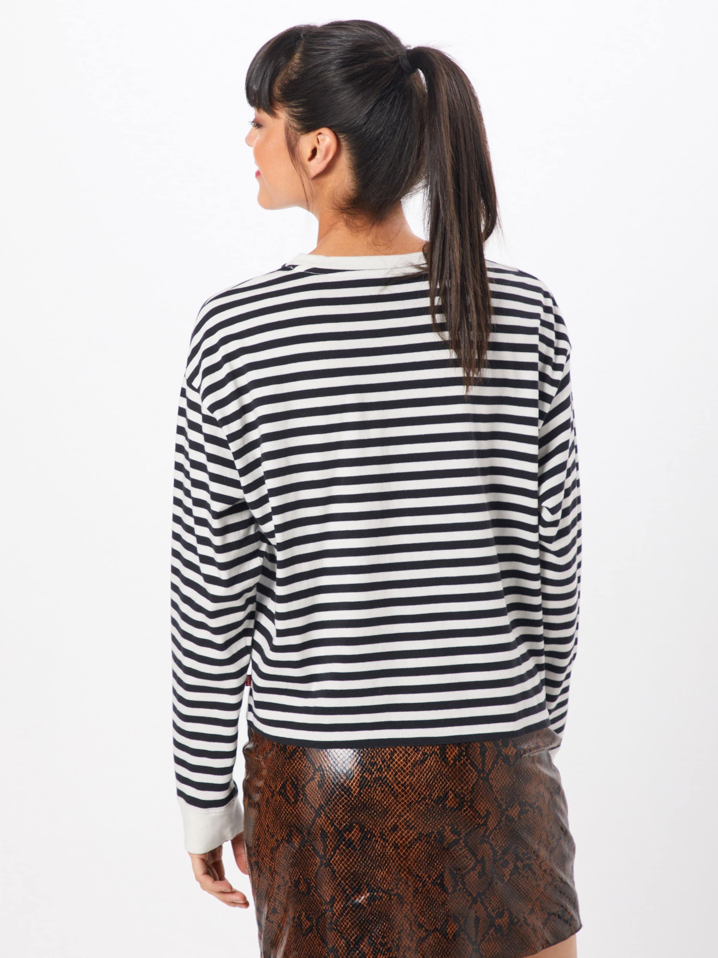 Tee' 'graphic T NoirBlanc Long shirt Sleeve En Levi's vmn80wN