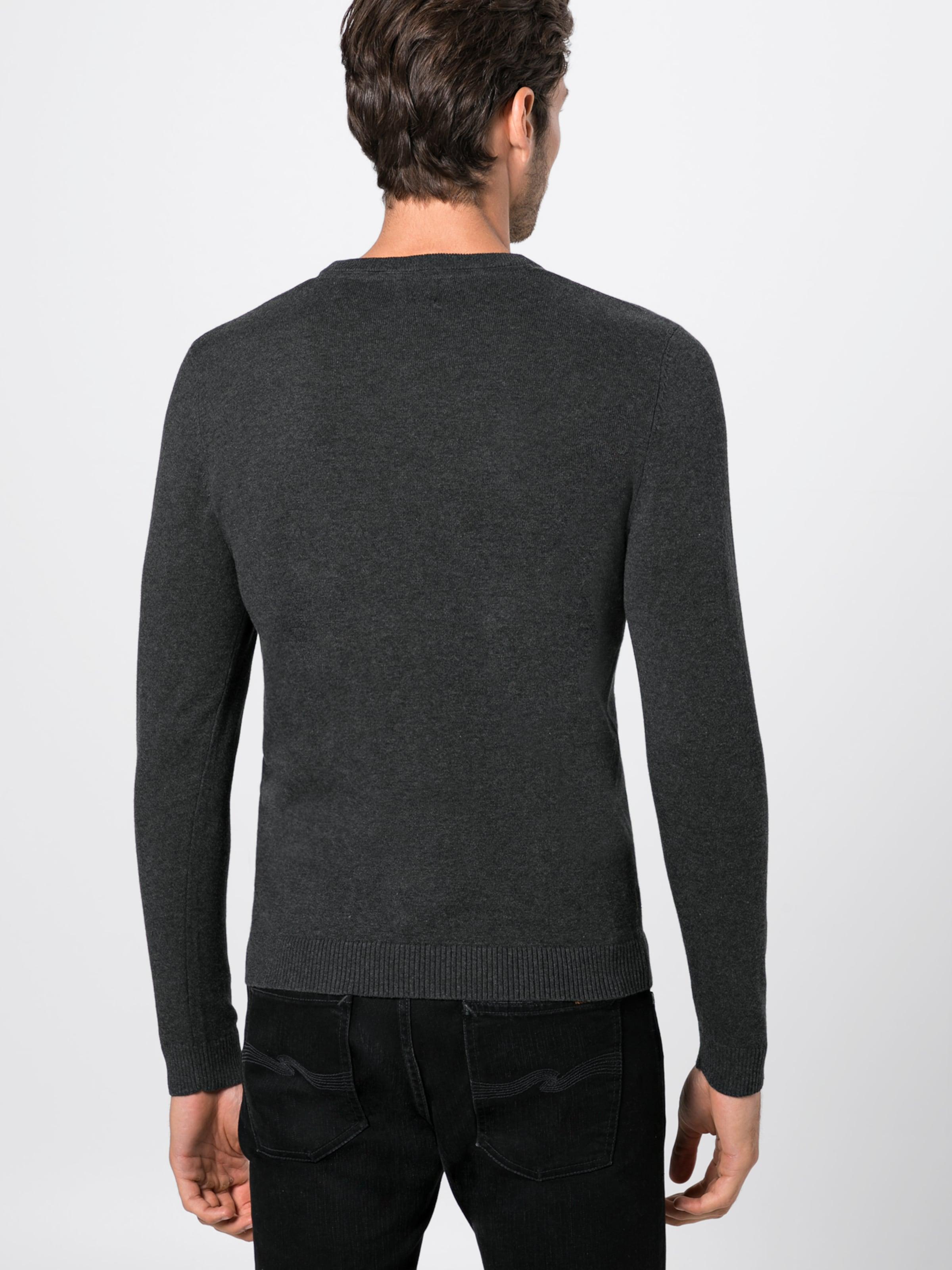 Jackamp; Pull over neck' En 'jjebasic Jones Knit V Noir kZwOiuPXT