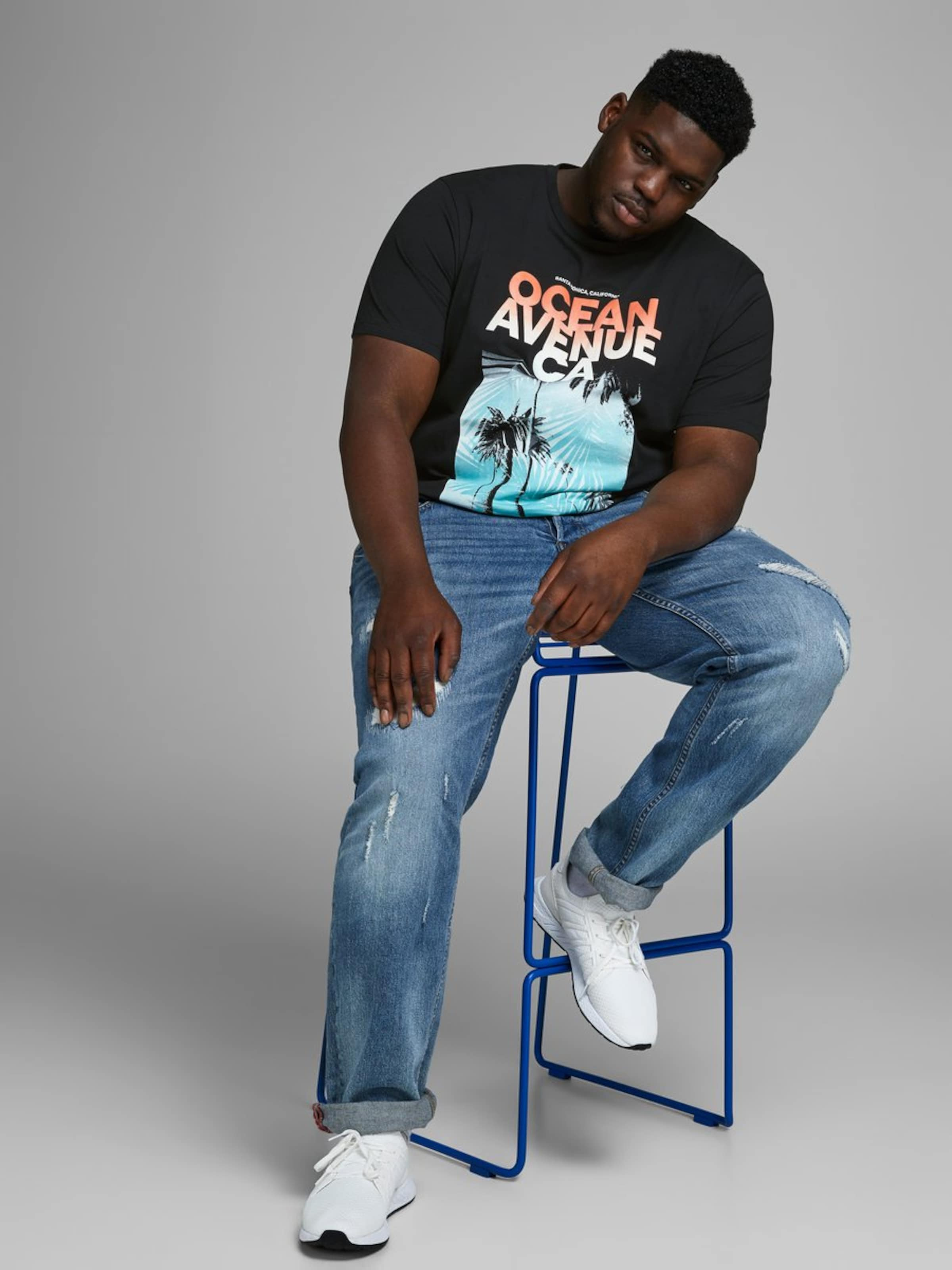 Jones En De CouleursBlanc Jackamp; shirt T Mélange roQBdCxeWE