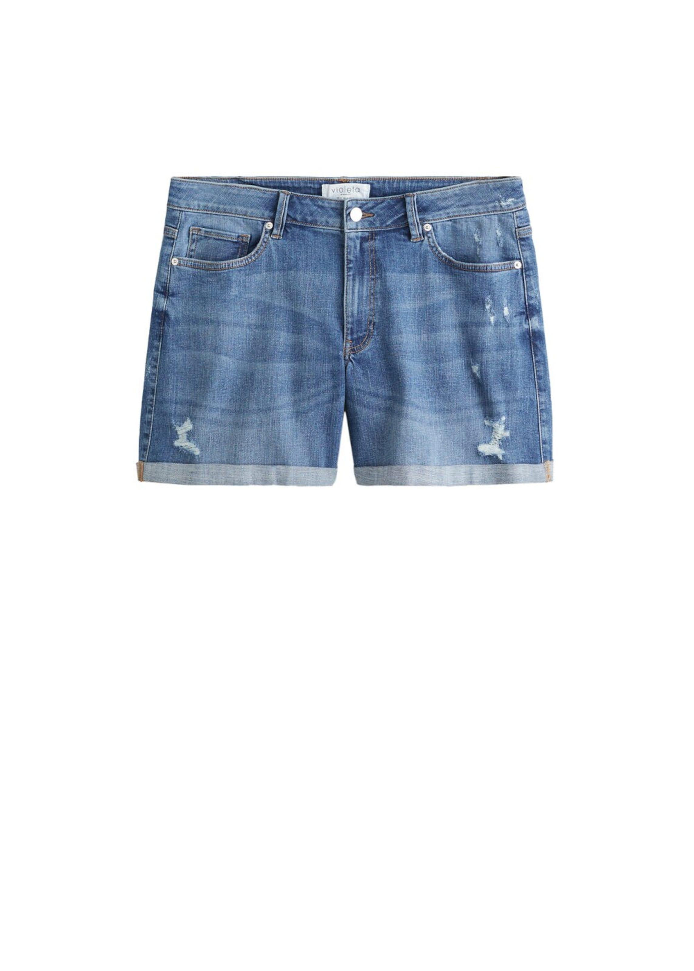 'vicky' Blue Denim Shorts By Violeta In Mango vNn80mOw