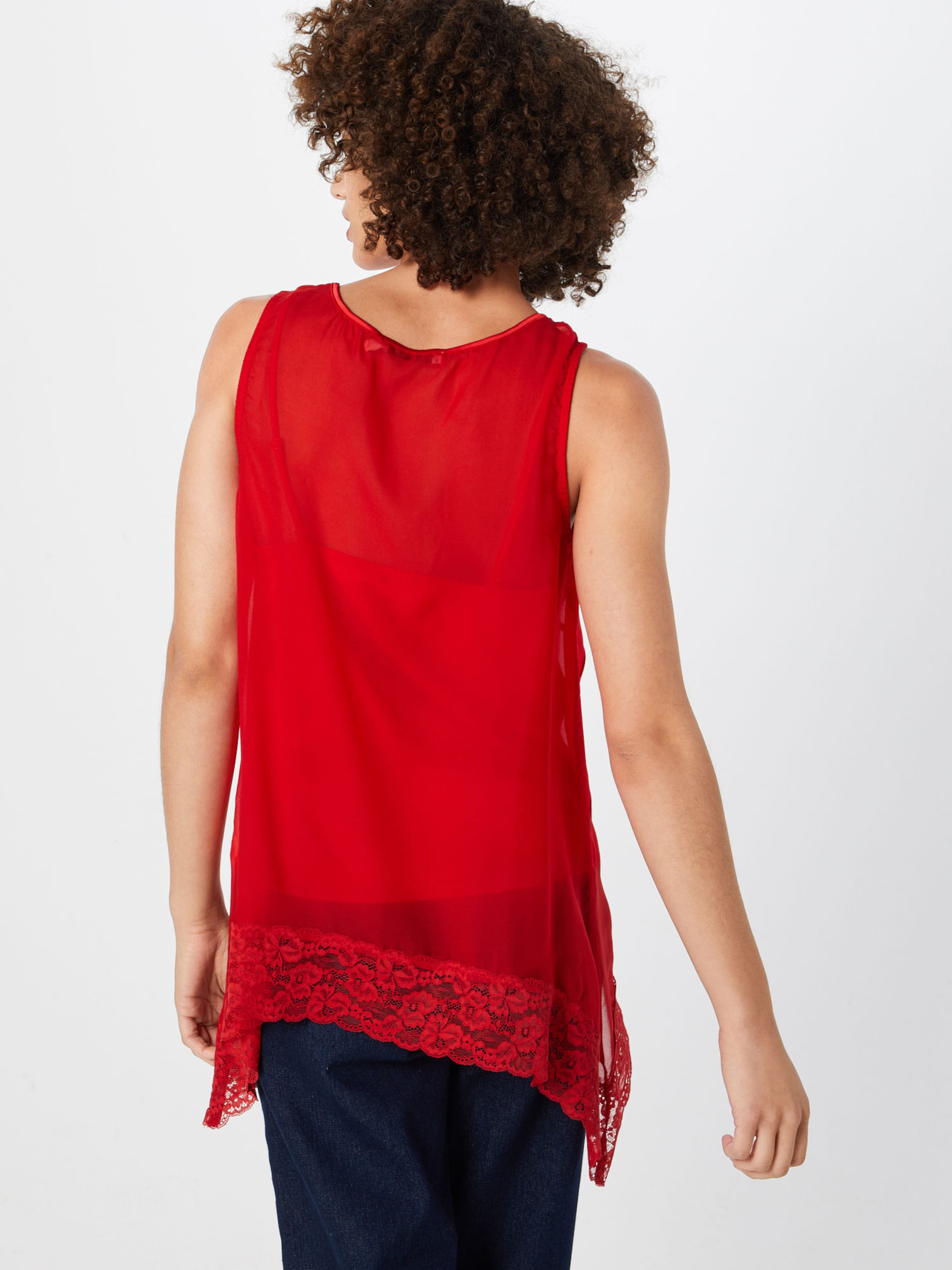 Top In kd Hem Rot 'asymmetric Lace Singlet' Na 13lKTJcF