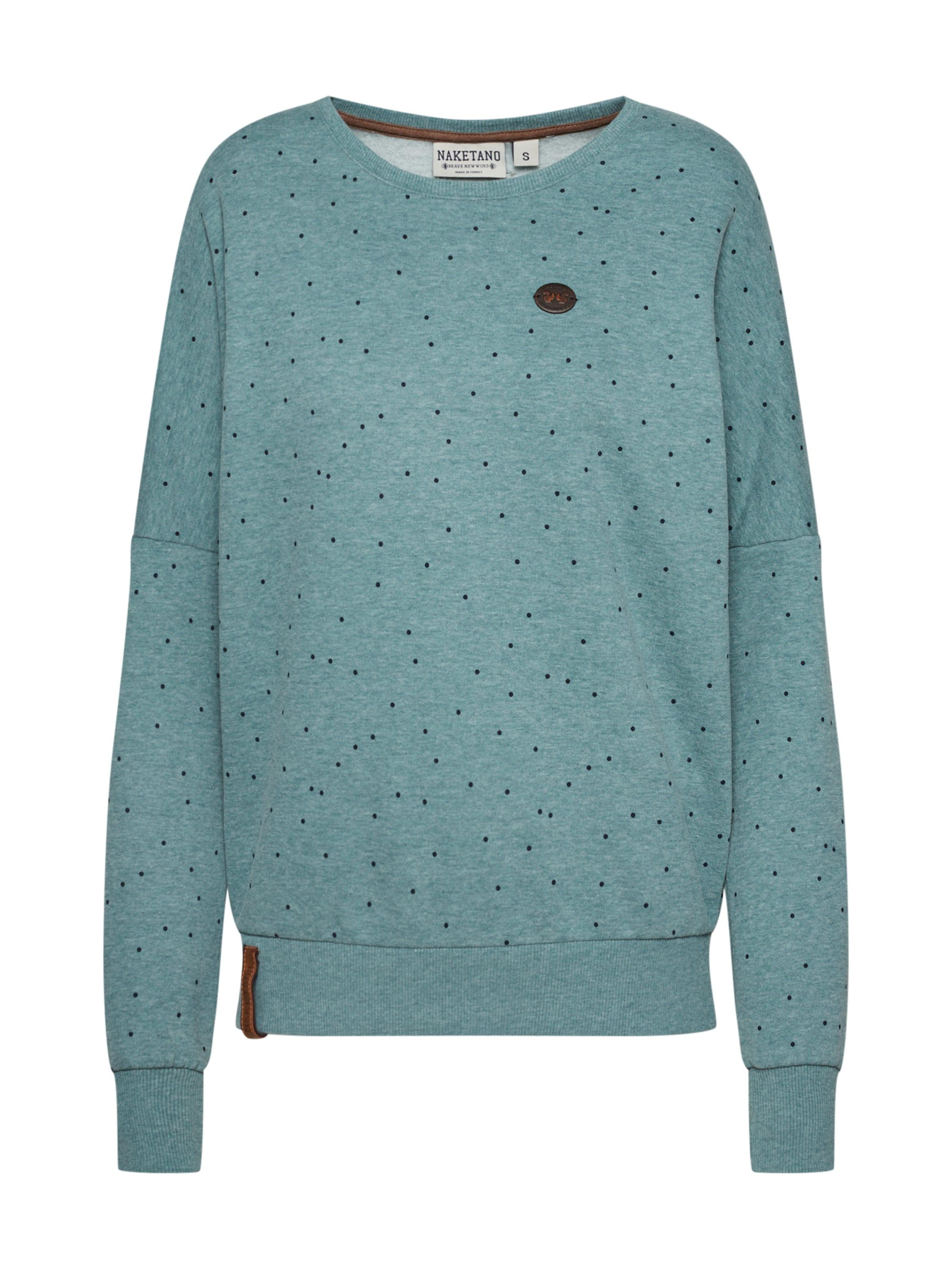 Naketano Chiné Twerk' 'twerk shirt Twerk NuitGris Sweat Bleu En 5Rq3ALj4