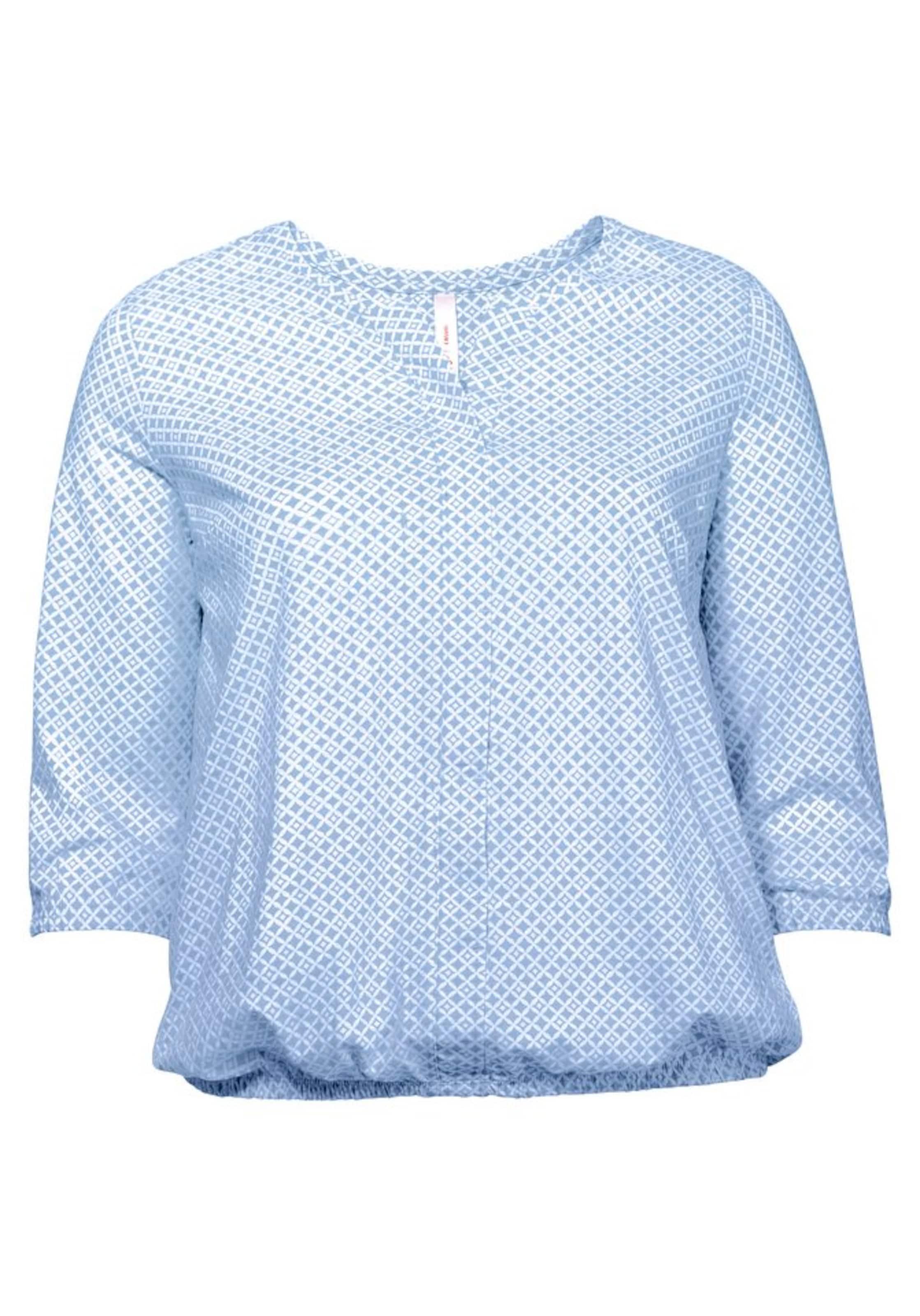 Casual 3 shirt Sheego 4 HellblauWeiß arm In oedBxC