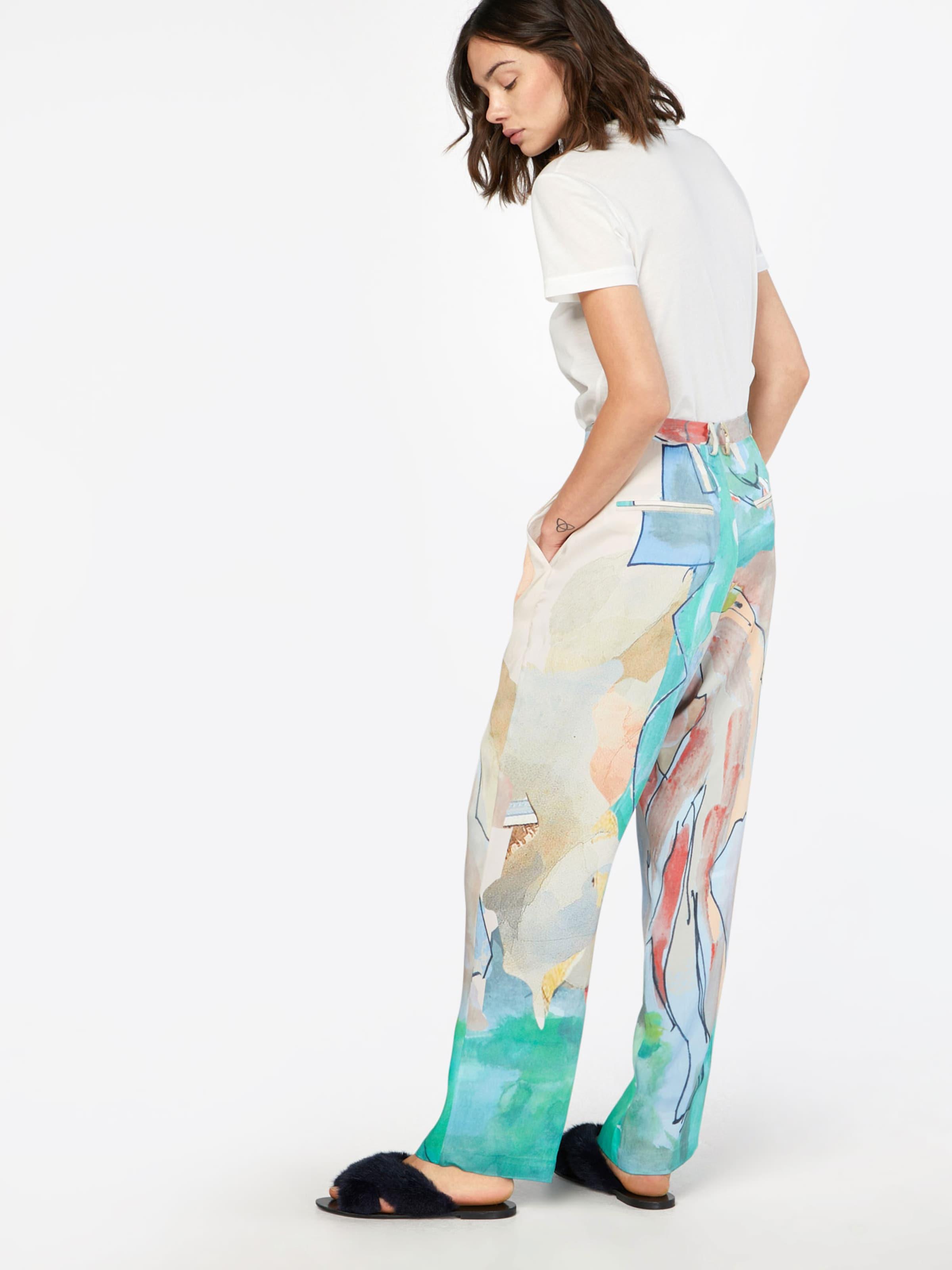 'posaster BeigeTurquoise En À Pants' Gris Pantalon Postyr Loose Pince SLqUMVGzp