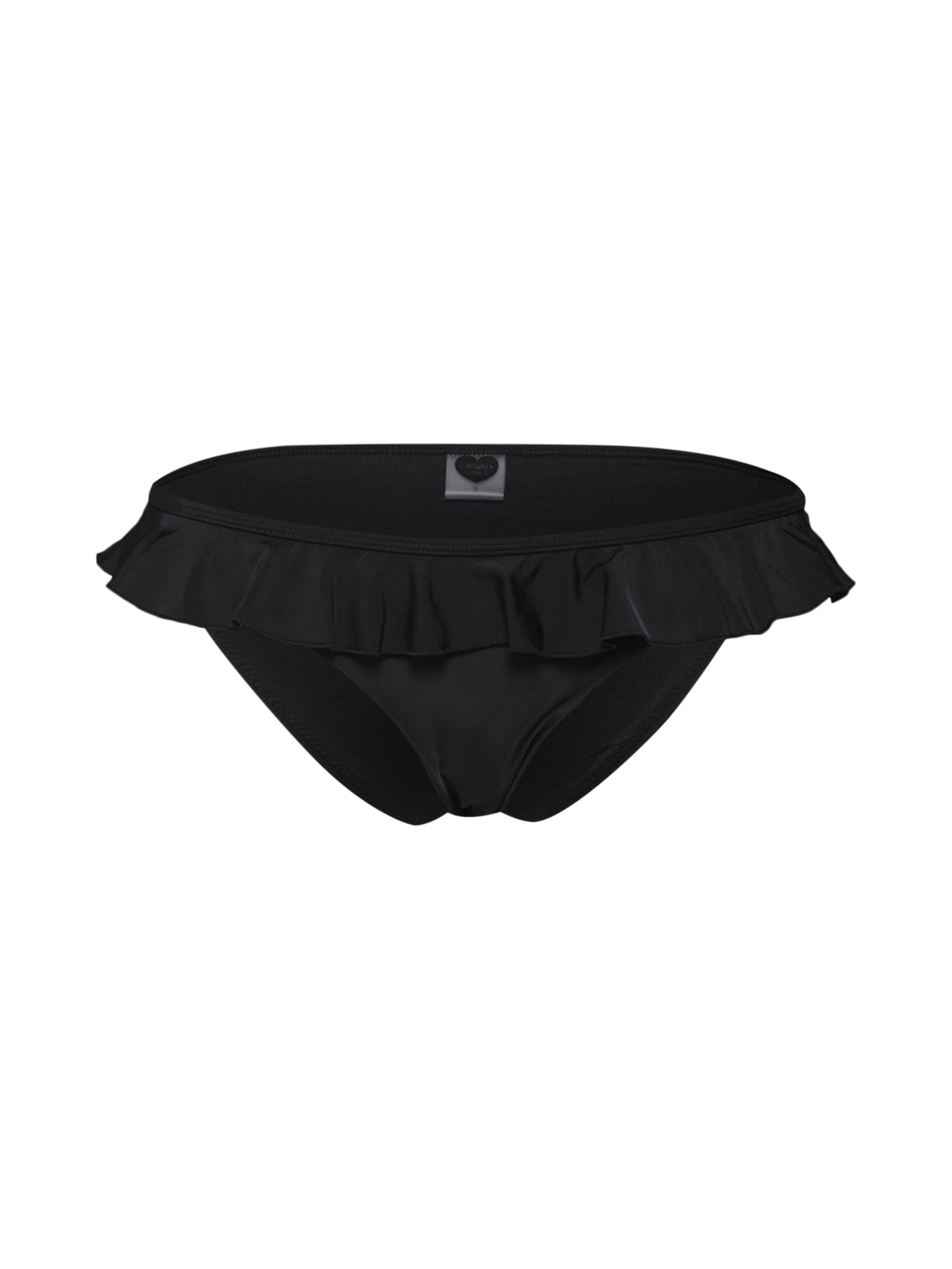 's Summer Bas De Junkie Bottom En Ruffle ' Catwalk Noir Bikini Pn80kwXO