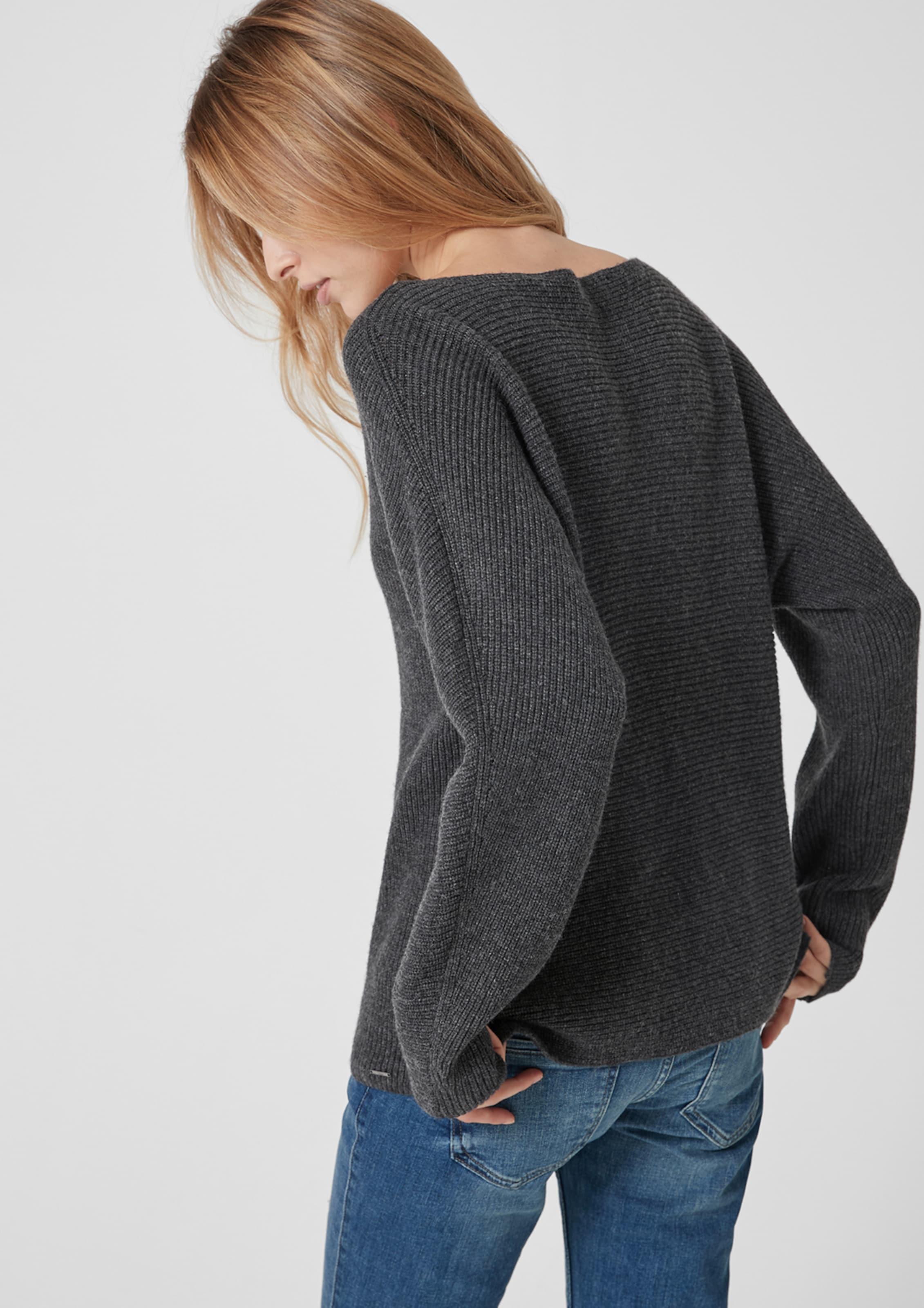 In oliver Label Pullover S Red Schwarzmeliert OnPk0w8