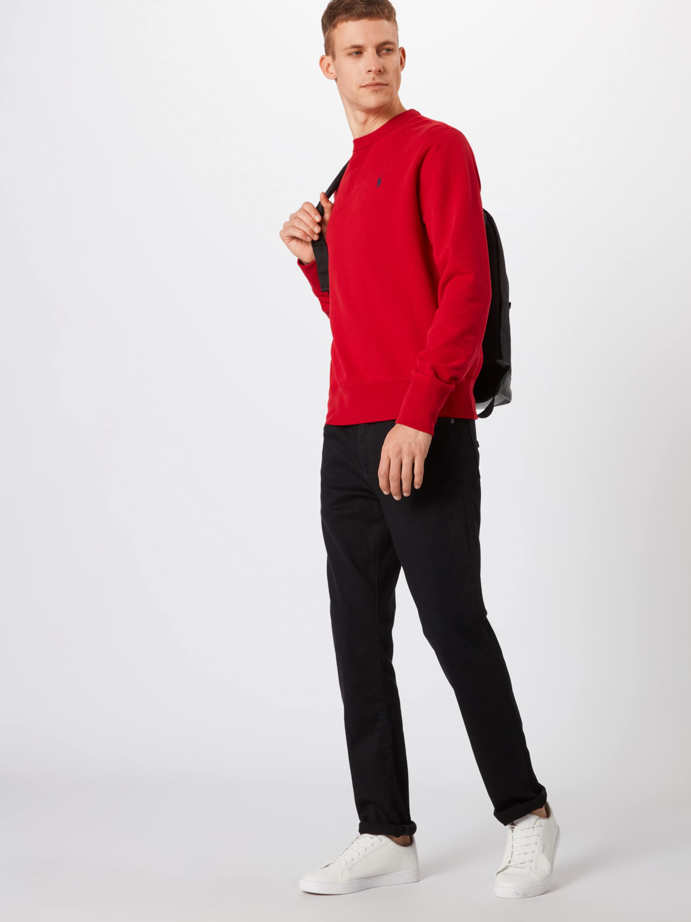 M1 knit' Lauren 'lscn Ralph shirt Sweat En Polo Sleeve Noir long wvmN80nO