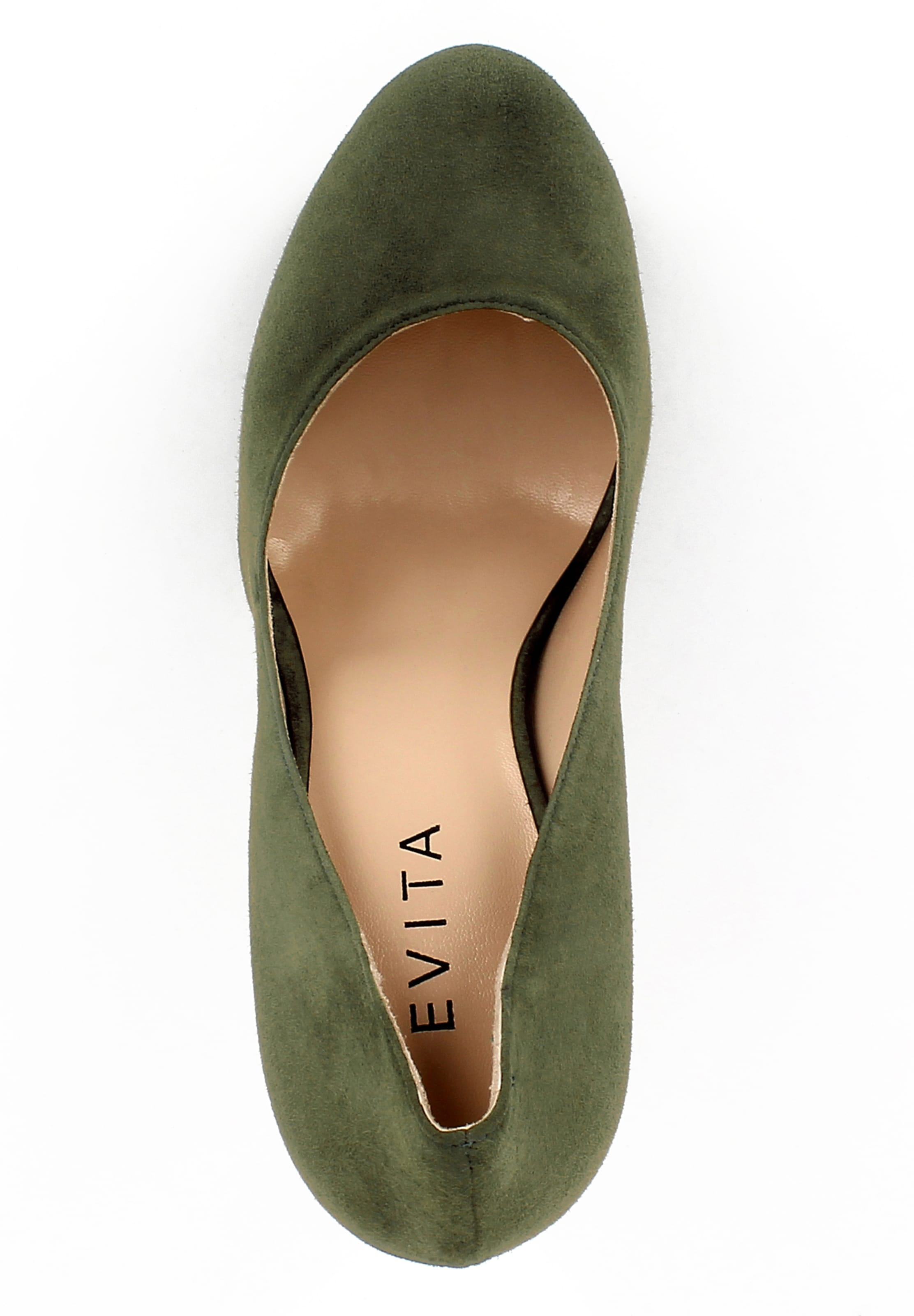Olive Evita 'riccarda' Escarpins En Evita 'riccarda' Escarpins En Olive kXPiZu