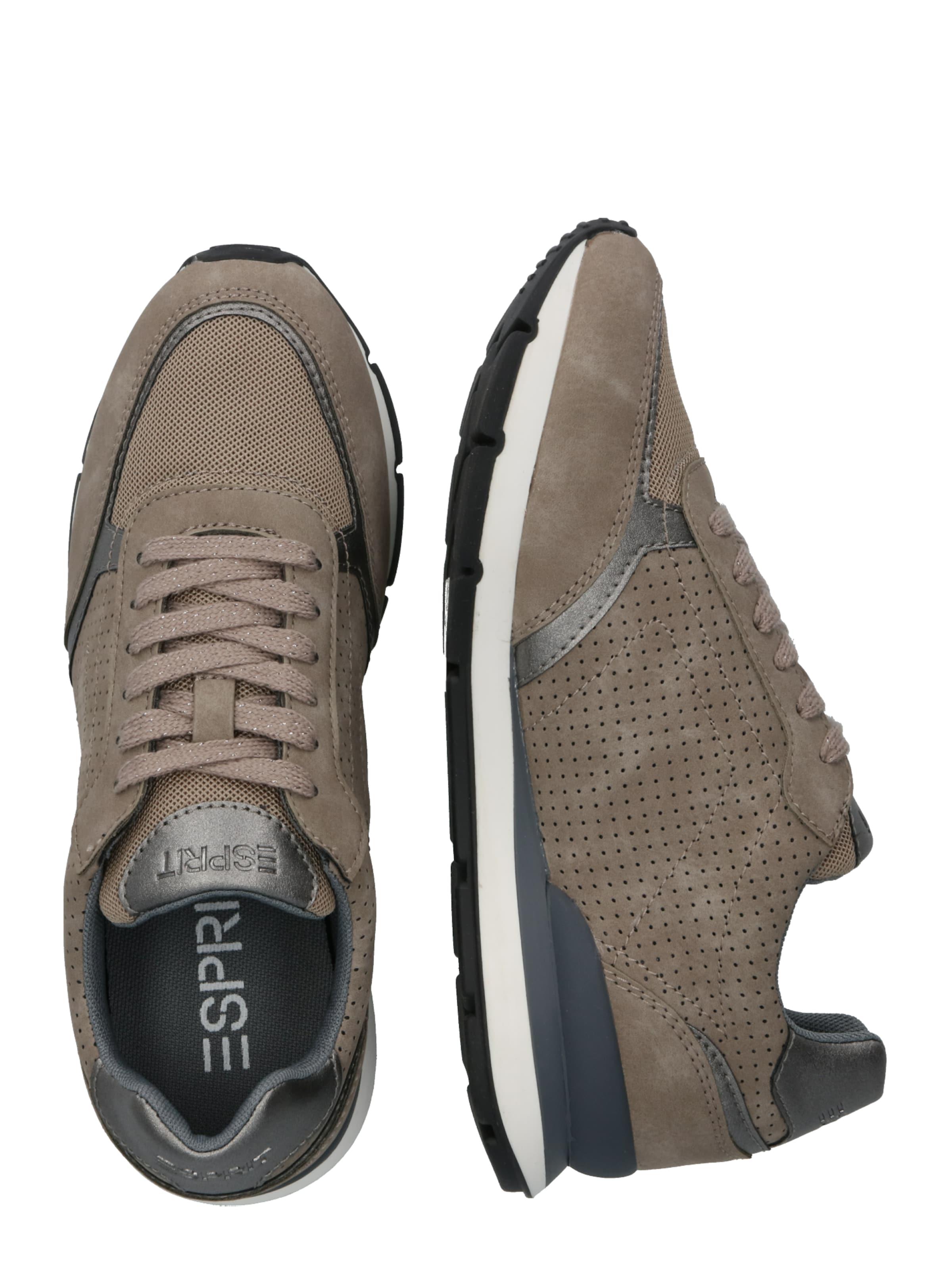 En Casual MarronGris Blanchet Shoes' Basses ' Esprit Baskets Lu 9WIEDH2Y