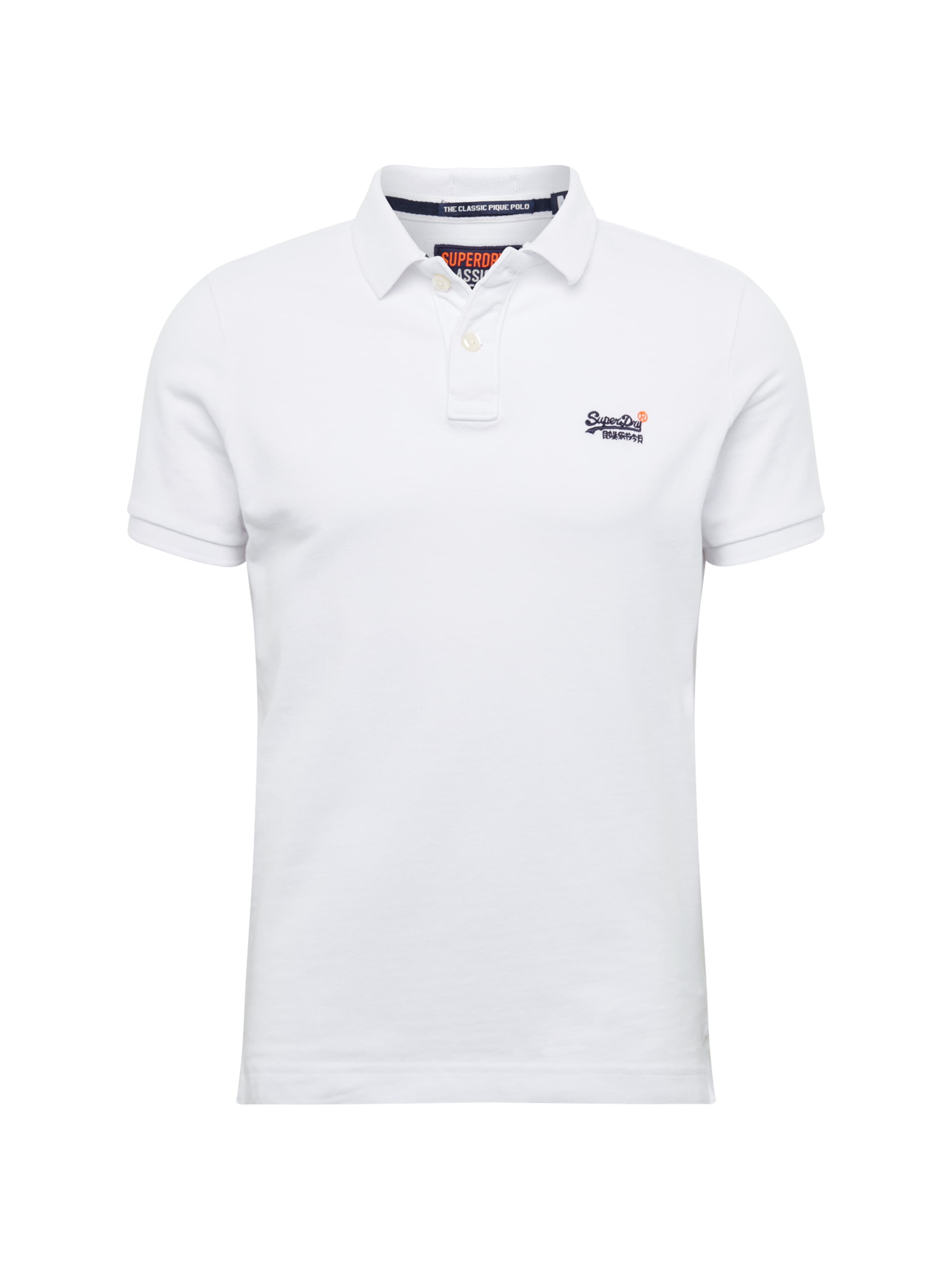 Shirt s Polo' Weiß Superdry 'classic S In Pique wZilXPkTOu