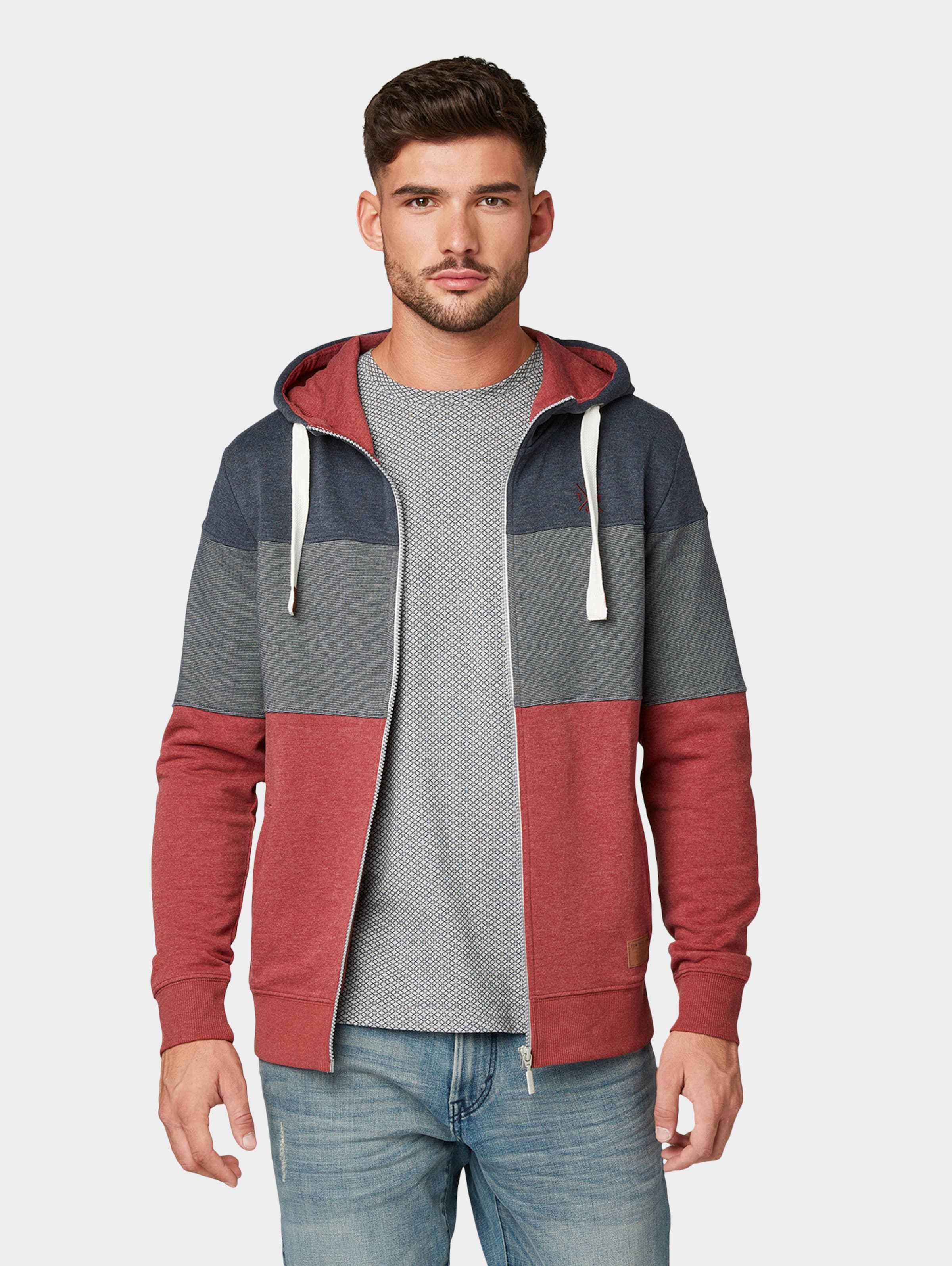 Tom In Sweatjacke Tailor Rot GrauDunkelgrau Ybg7f6y