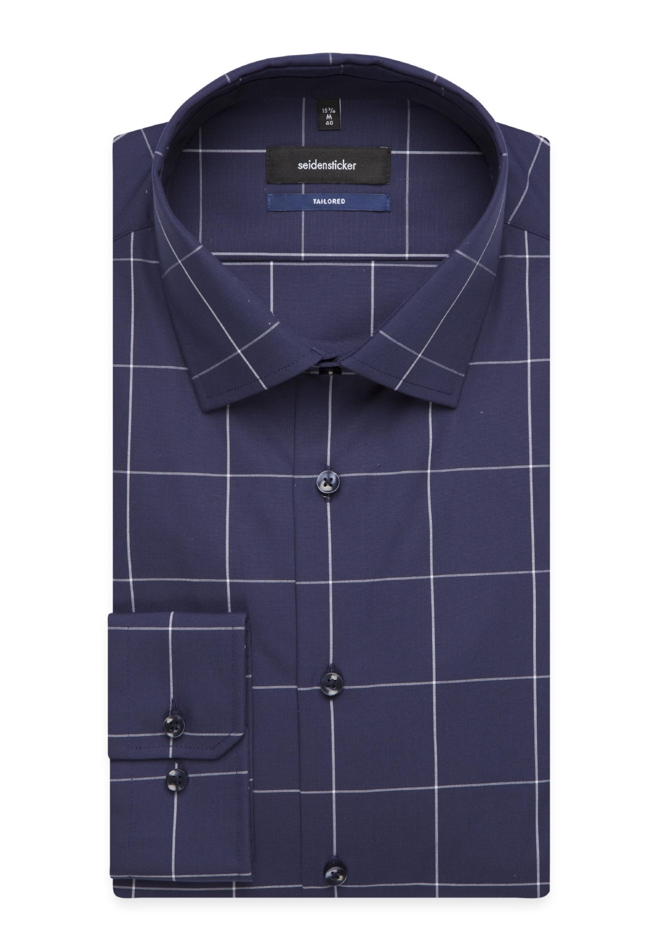 Chemise Seidensticker En Business FoncéBlanc ' Tailored Bleu 34LAR5j