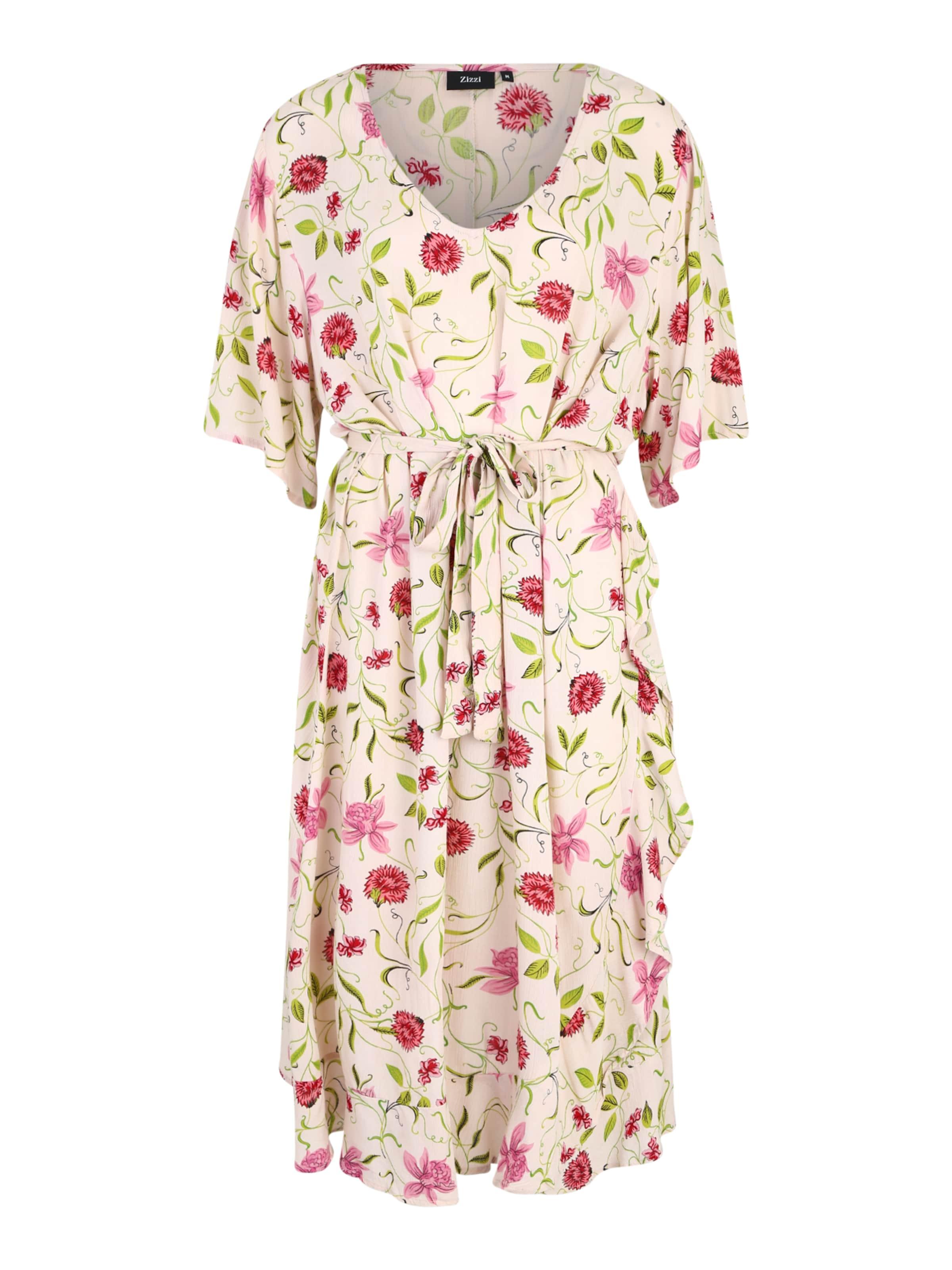 Zizzi 'vcigga' BeigeGrün Pink Kleid In 4Ac5RjL3q