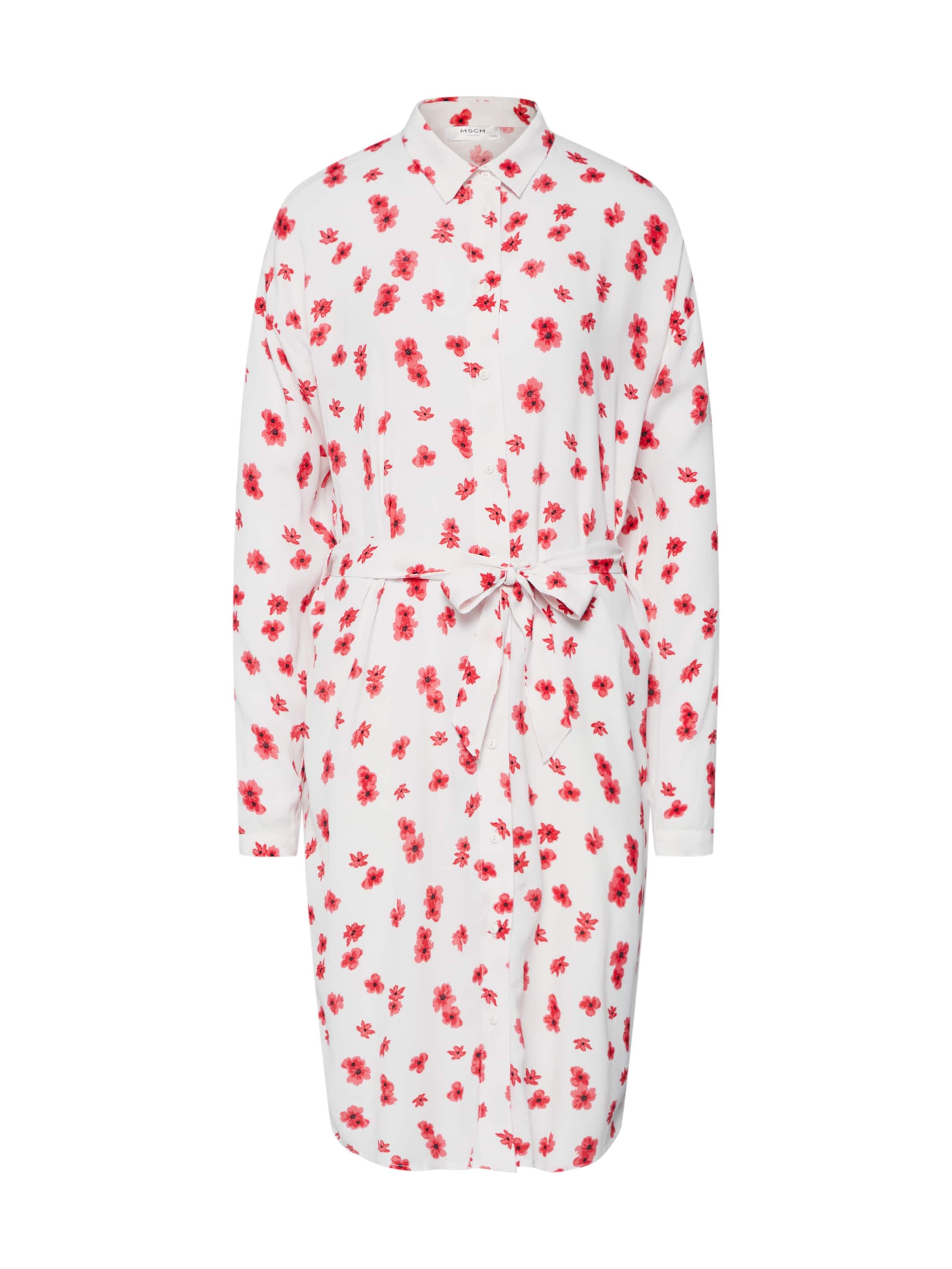 Moss Copenhagen 'mosa Genni' RougeBlanc chemise Robe En wOkPnX80