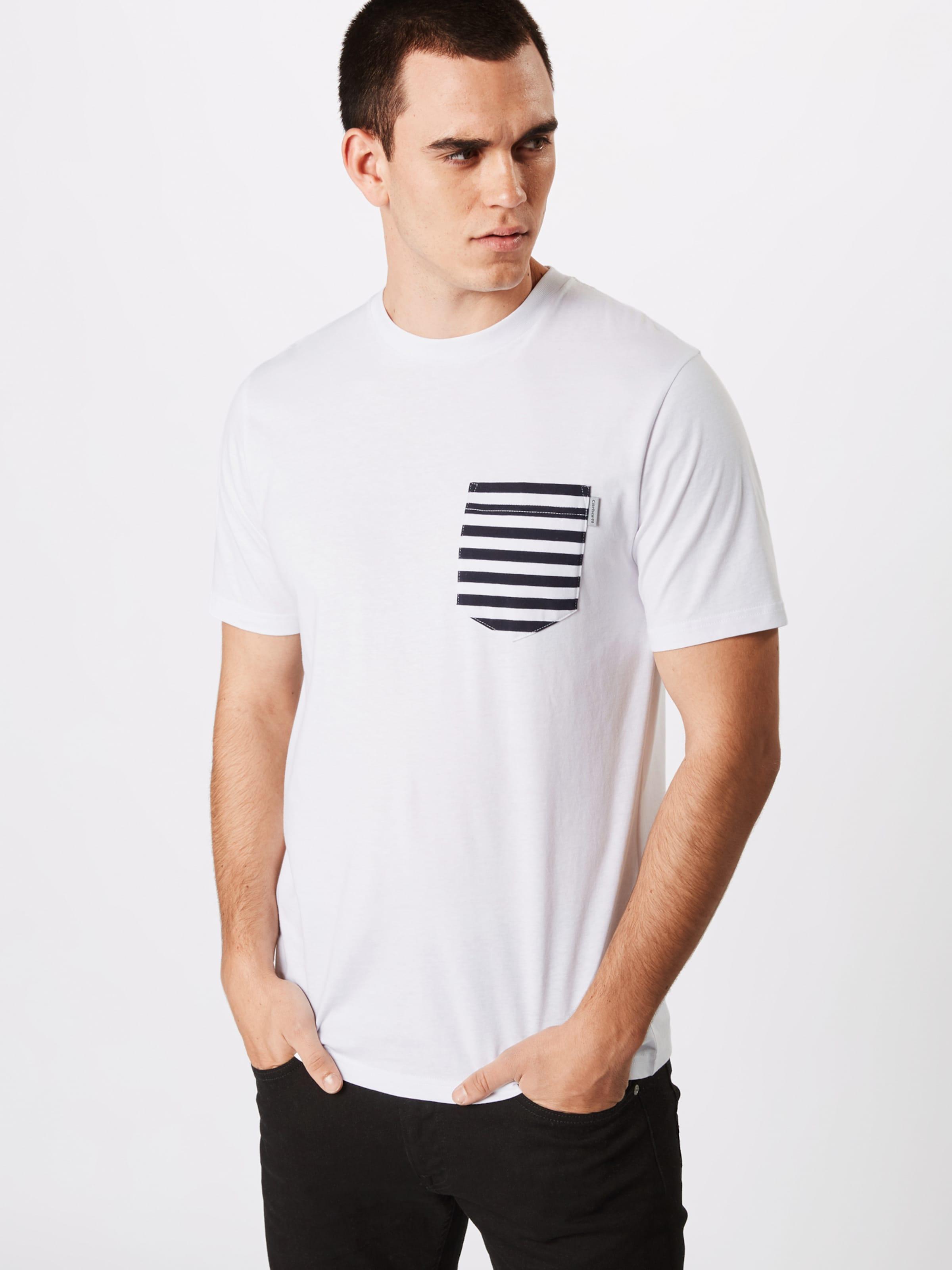 T Carhartt Bleu MarineBlanc 'contrast Wip Pocket' shirt En PZuiTkOX
