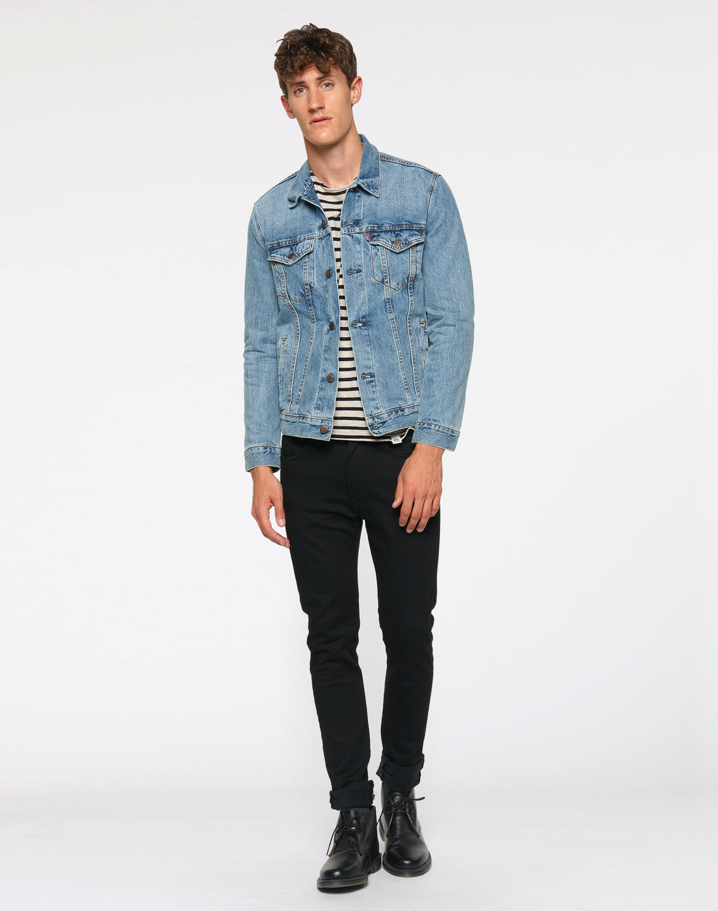 En 'the Noir Veste saison Trucker' Mi Levi's Denim PZiXkuO