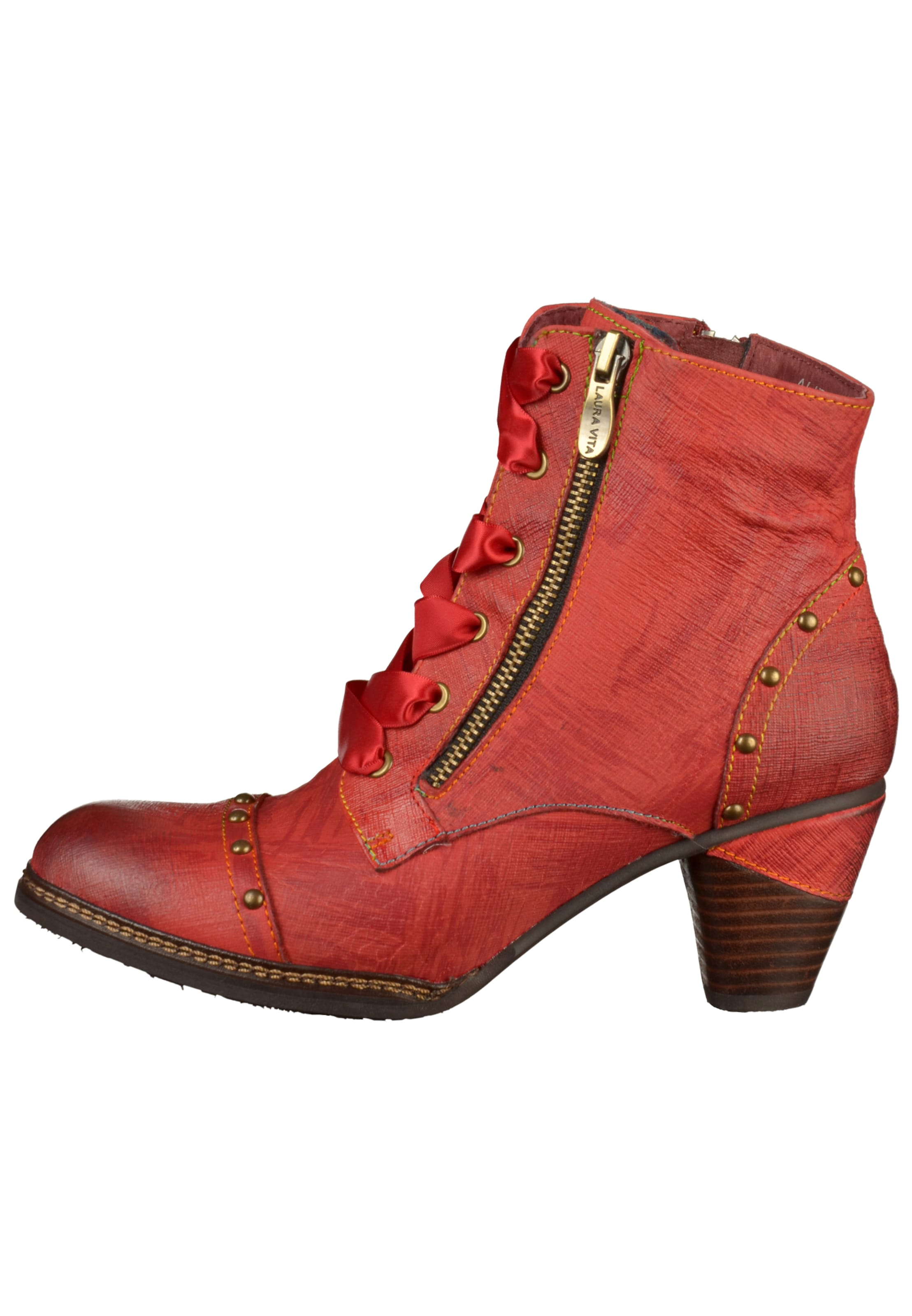 Laura Lacets Vita Bottines Rouge En À MUzpSV