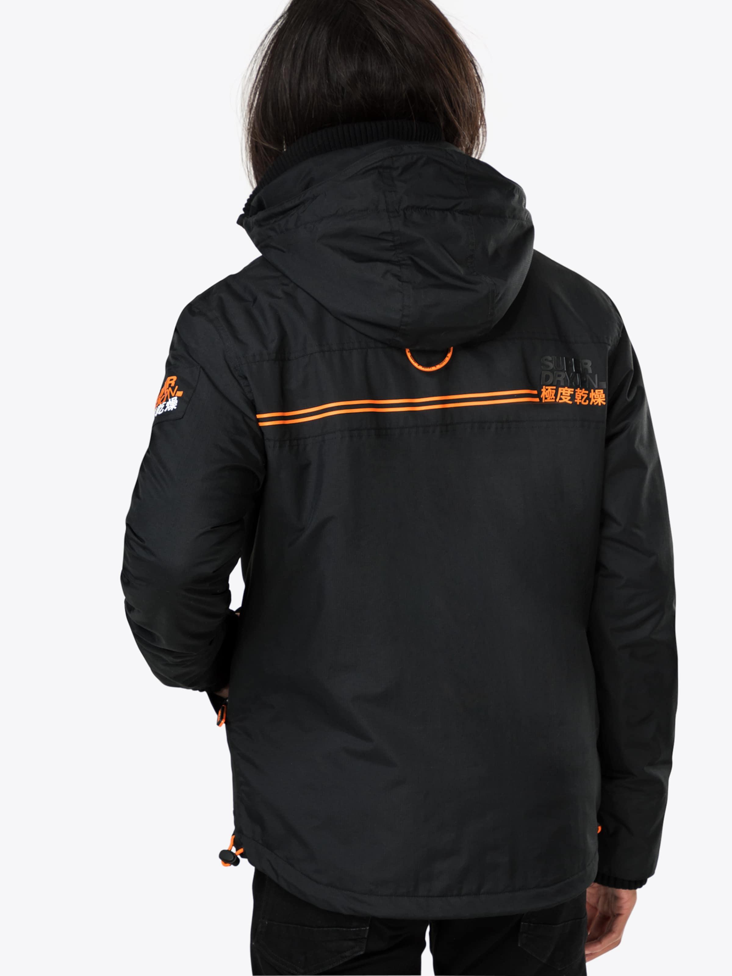 Veste Mi En saison Attacker' OrangeNoir Superdry Polar Wind 'hooded qSAc5jL4R3
