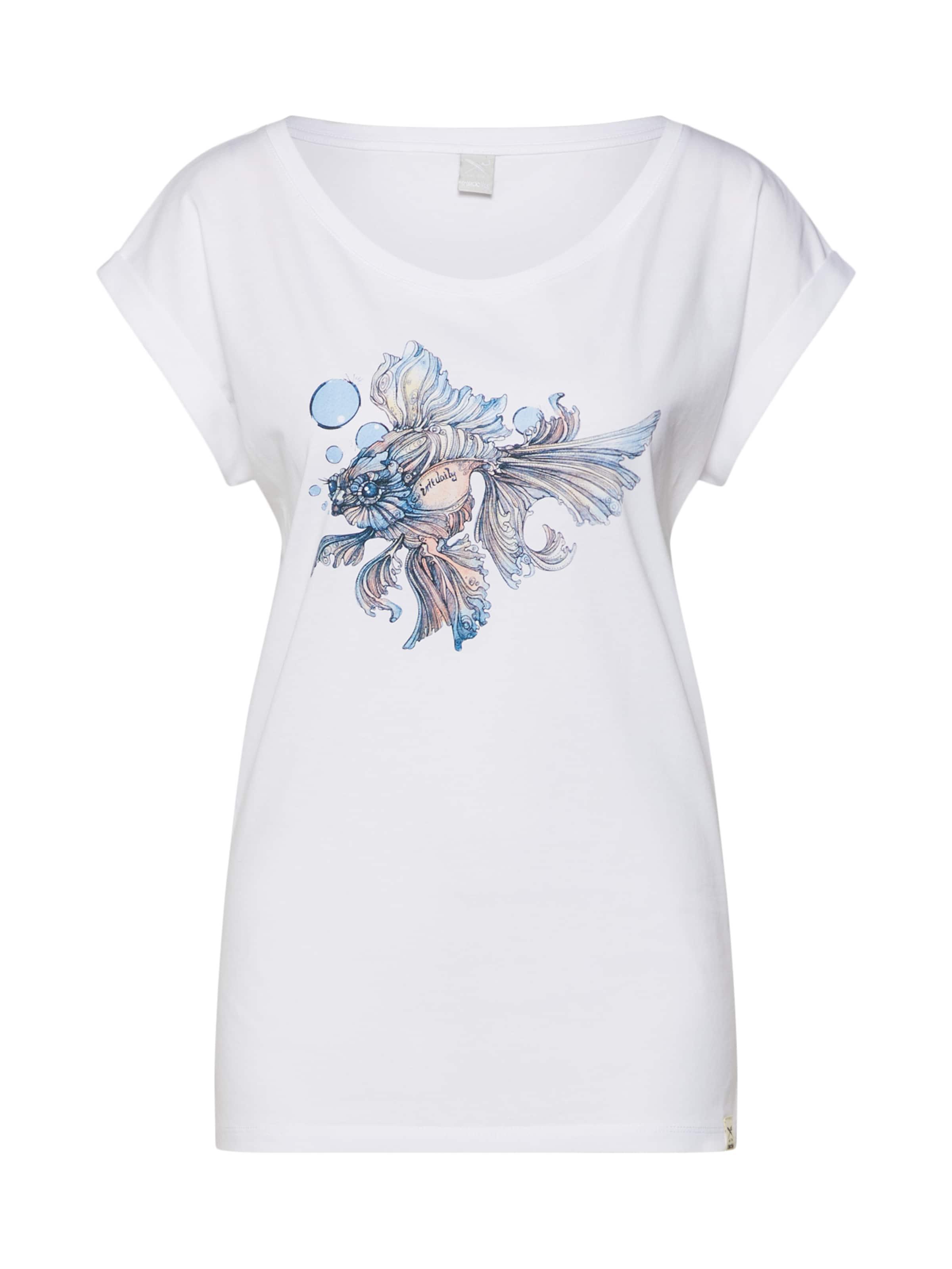Tee' T Iriedaily En shirt Blanc 'bubble Fish wZ8knPN0OX