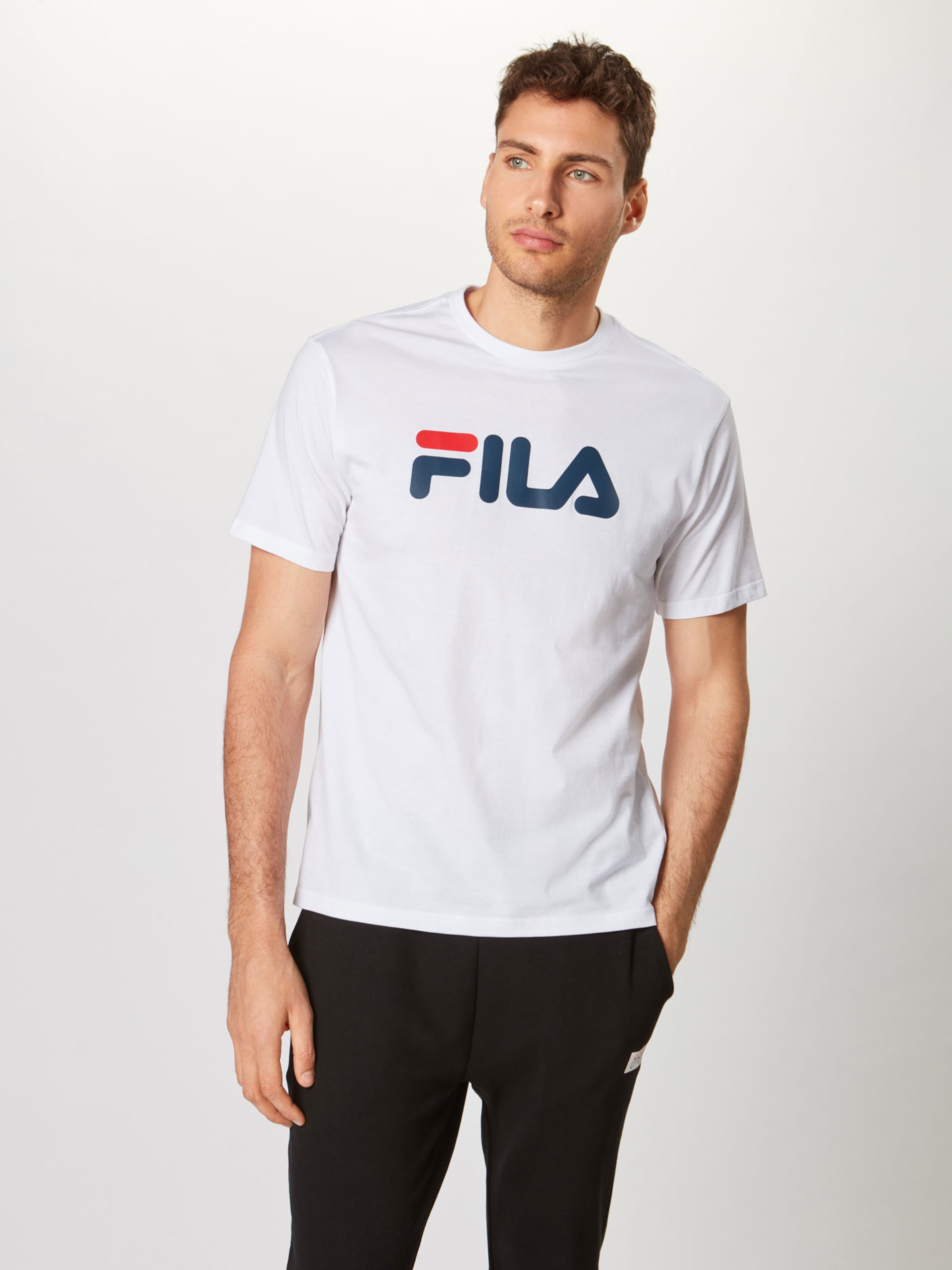 shirt Fila T FoncéBlanc En 'pure' Bleu yb6Yf7g